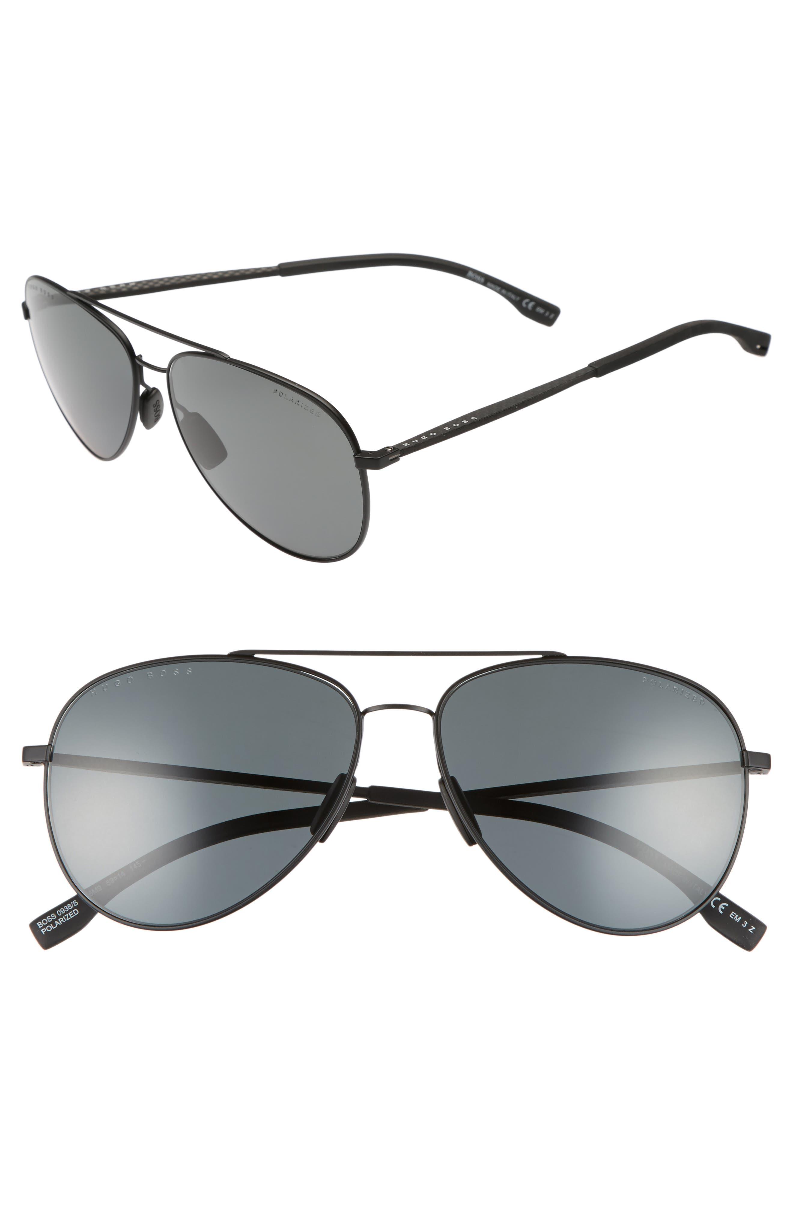 59mm Aviator Sunglasses,                             Main thumbnail 1, color,                             003