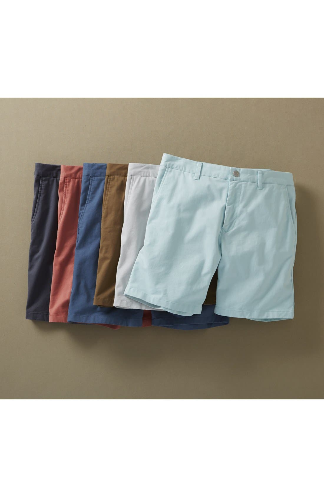 Stretch Washed Chino 7-Inch Shorts,                             Alternate thumbnail 7, color,                             STEELY