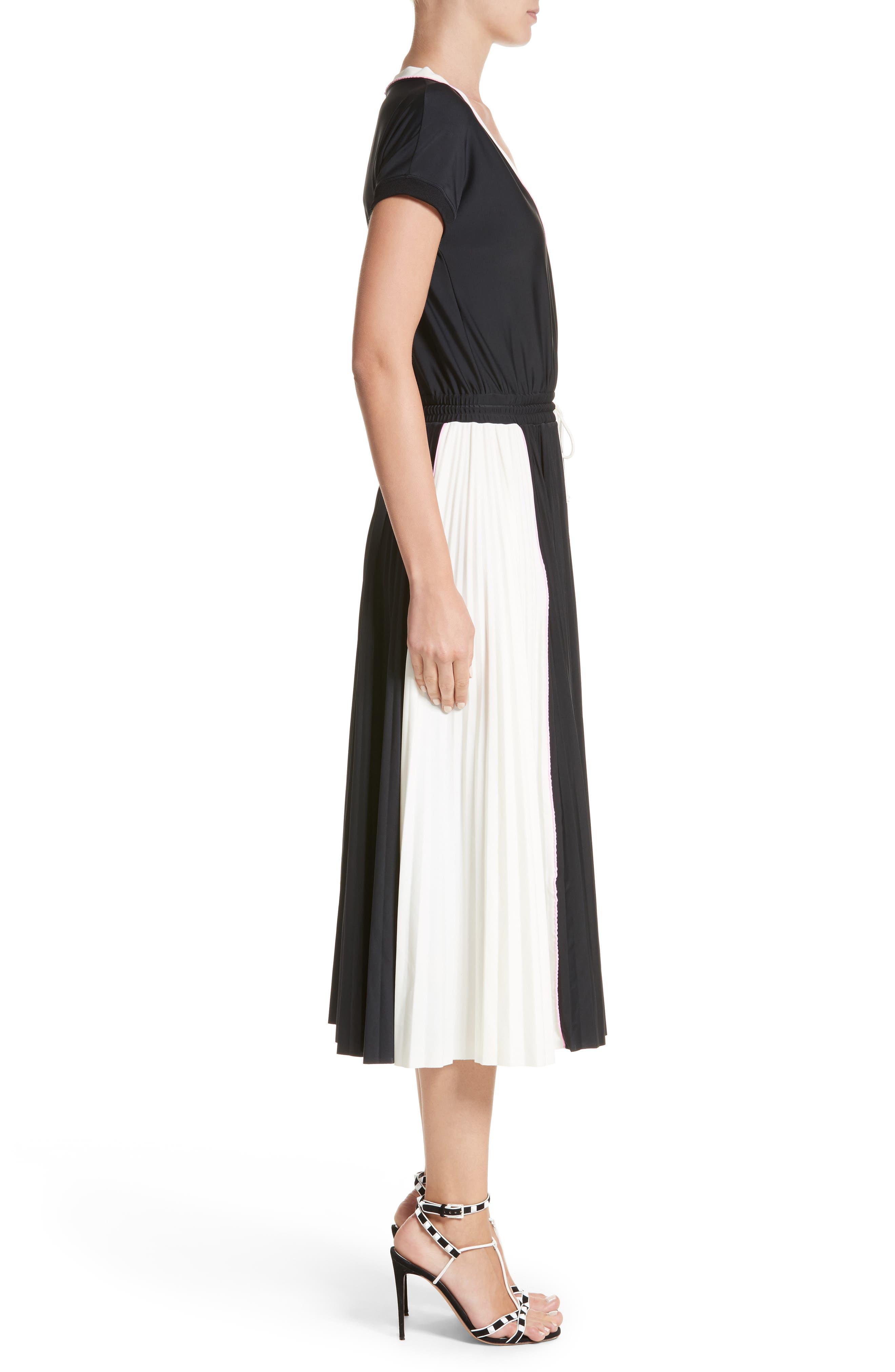 Sport Jersey Midi Dress,                             Alternate thumbnail 3, color,