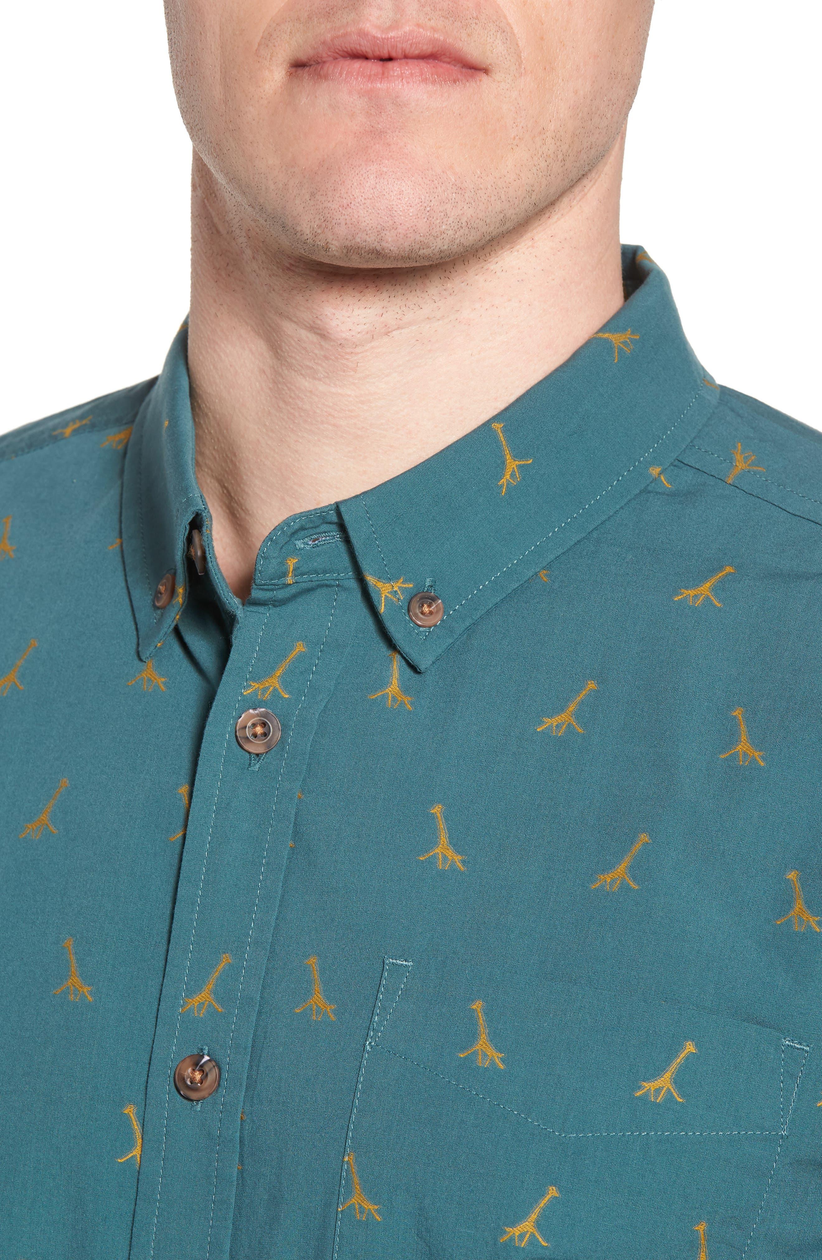 Broderick Slim Fit Short Sleeve Sport Shirt,                             Alternate thumbnail 4, color,                             300