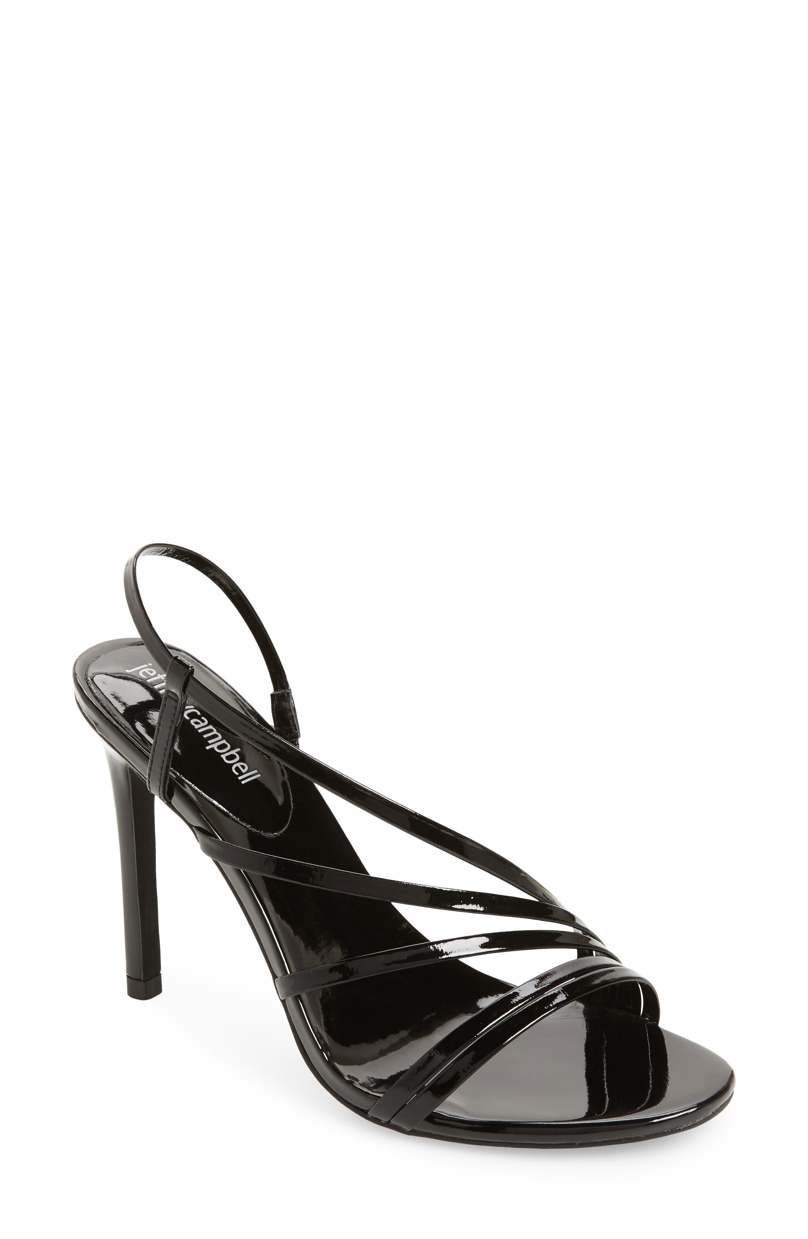 Lilian Asymmetrical Strappy Sandal,                             Main thumbnail 1, color,                             001