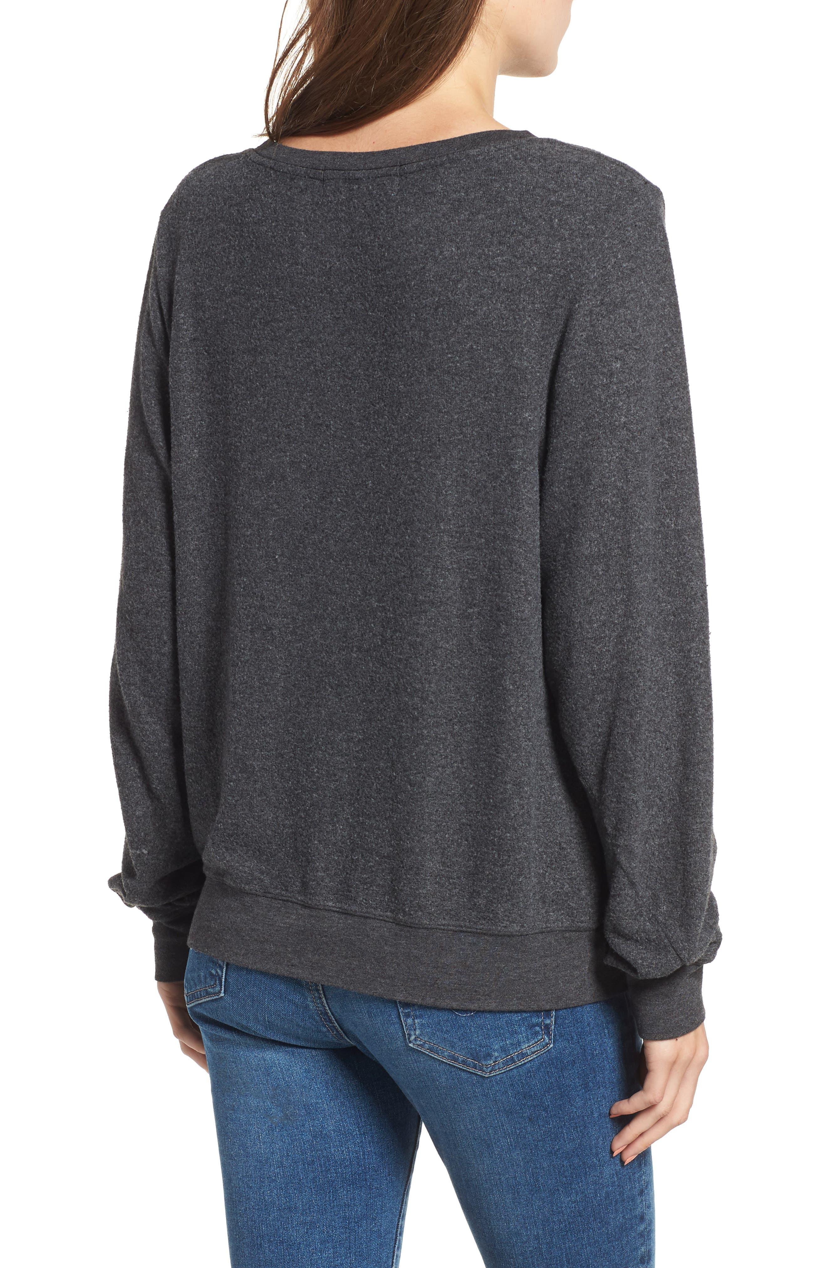 Smooches Baggy Beach Jumper Sweatshirt,                             Alternate thumbnail 2, color,                             002