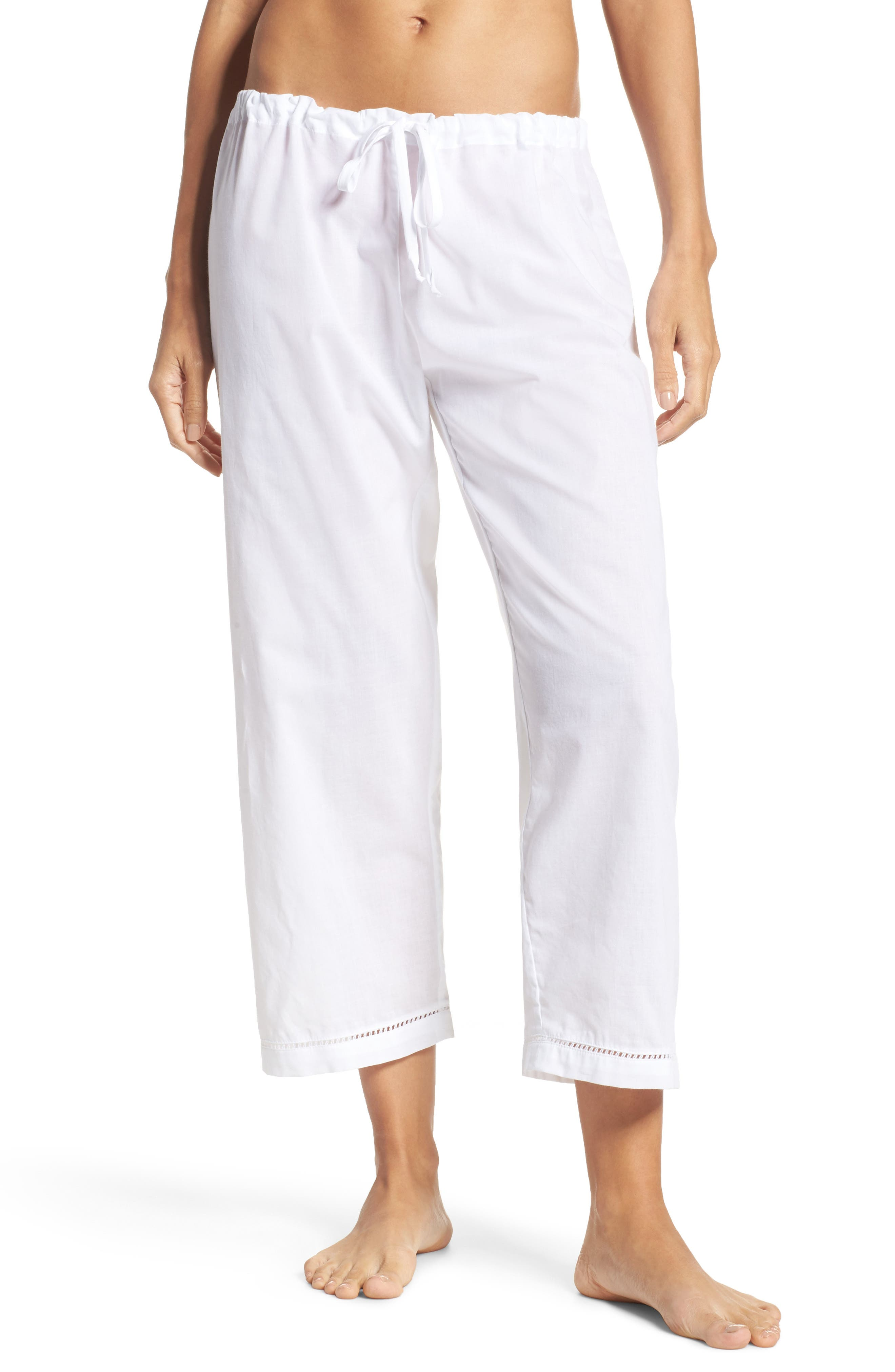 Crop Pajama Pants,                             Main thumbnail 1, color,                             100
