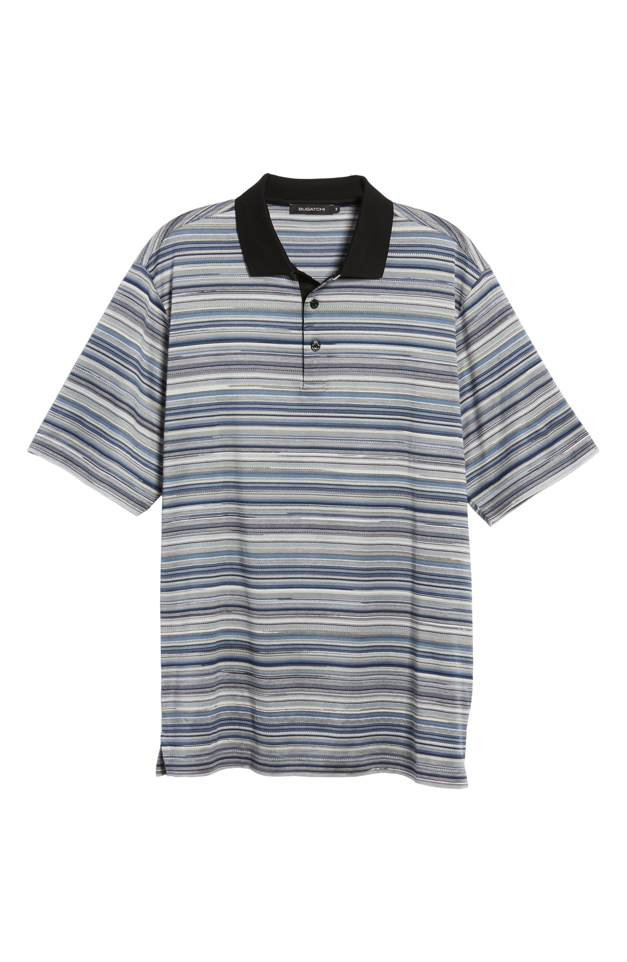 Stripe Mercerized Cotton Polo,                             Alternate thumbnail 6, color,