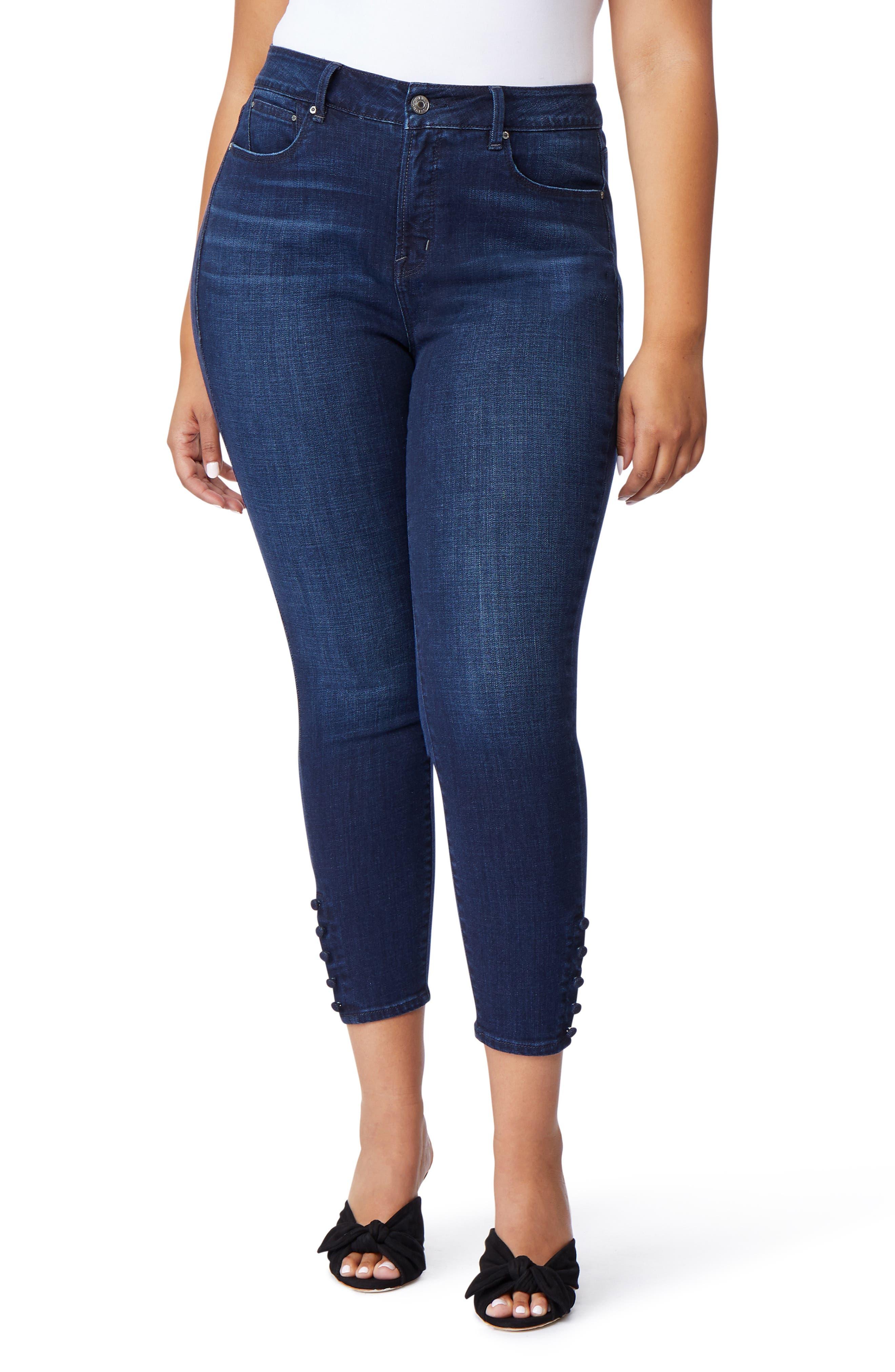 The Pin-Up Crop Skinny Jeans,                             Main thumbnail 1, color,                             BERKELEY