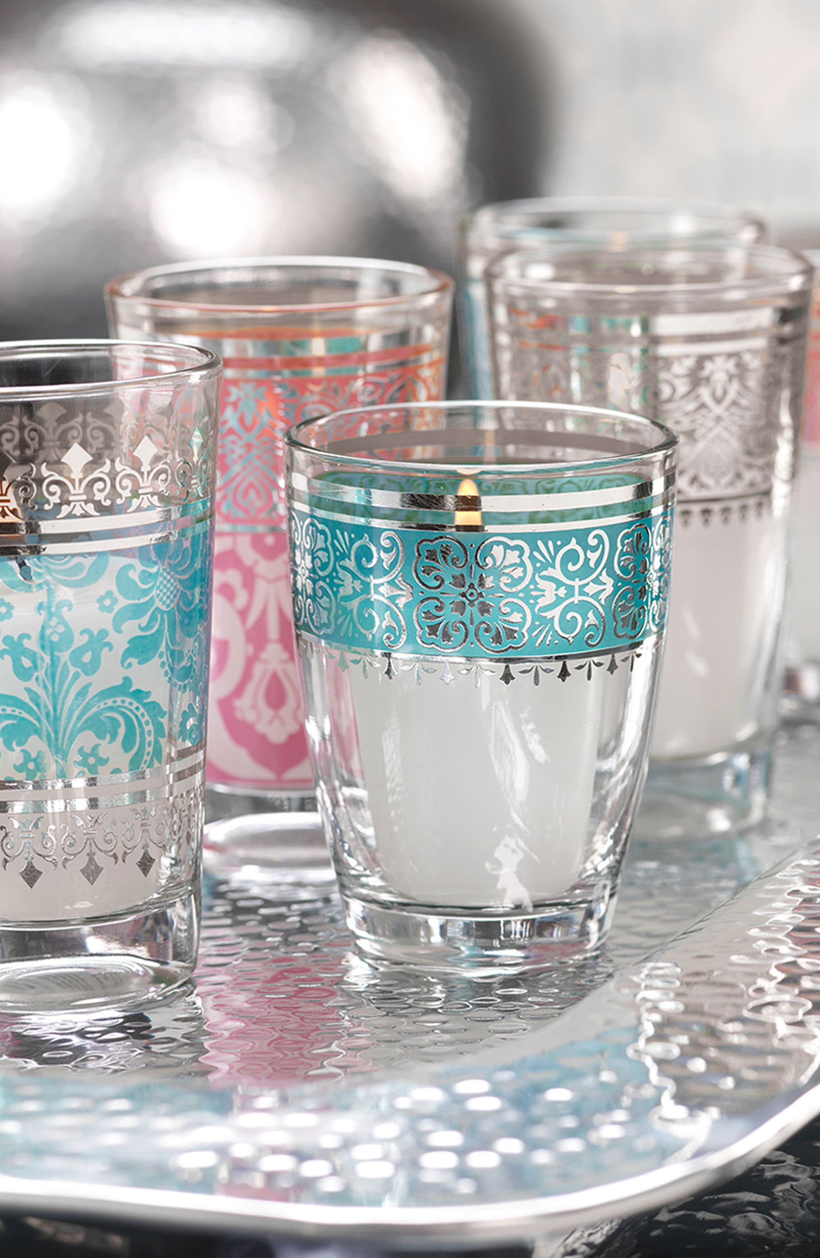 Casablanca Set of 12 Tealight Holders,                             Alternate thumbnail 2, color,                             400