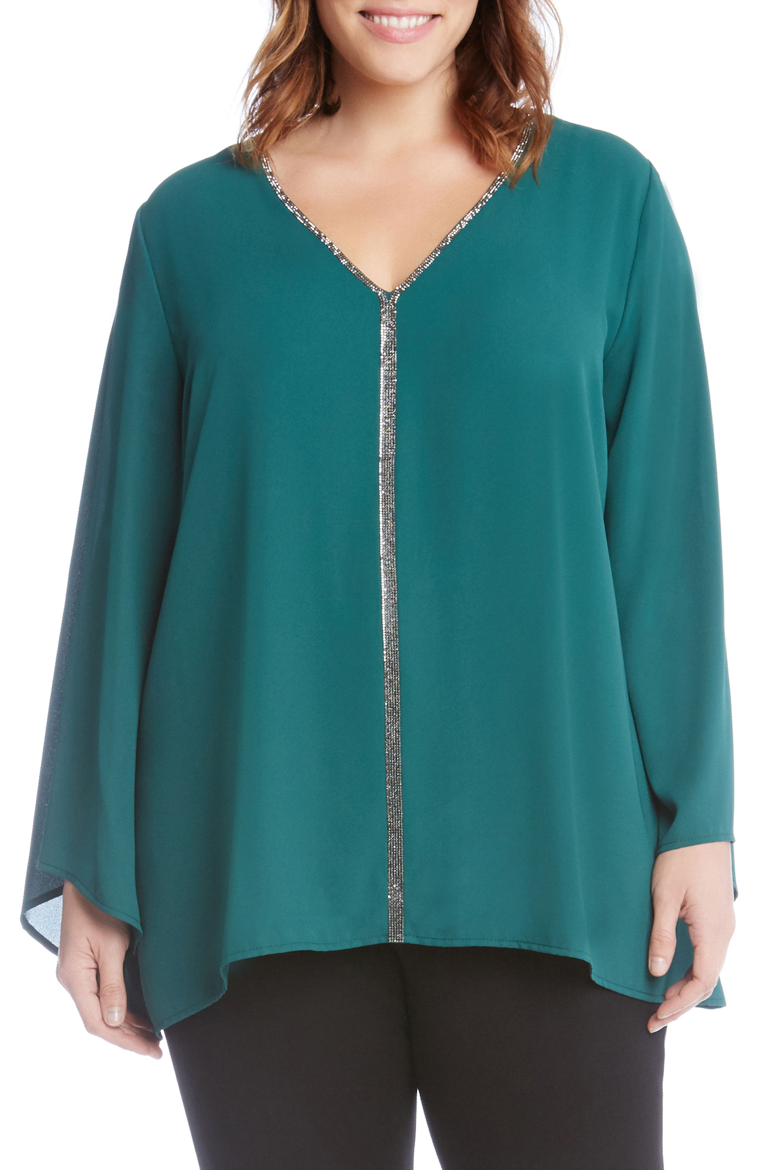 Sparkle Bell Sleeve Top,                             Main thumbnail 2, color,