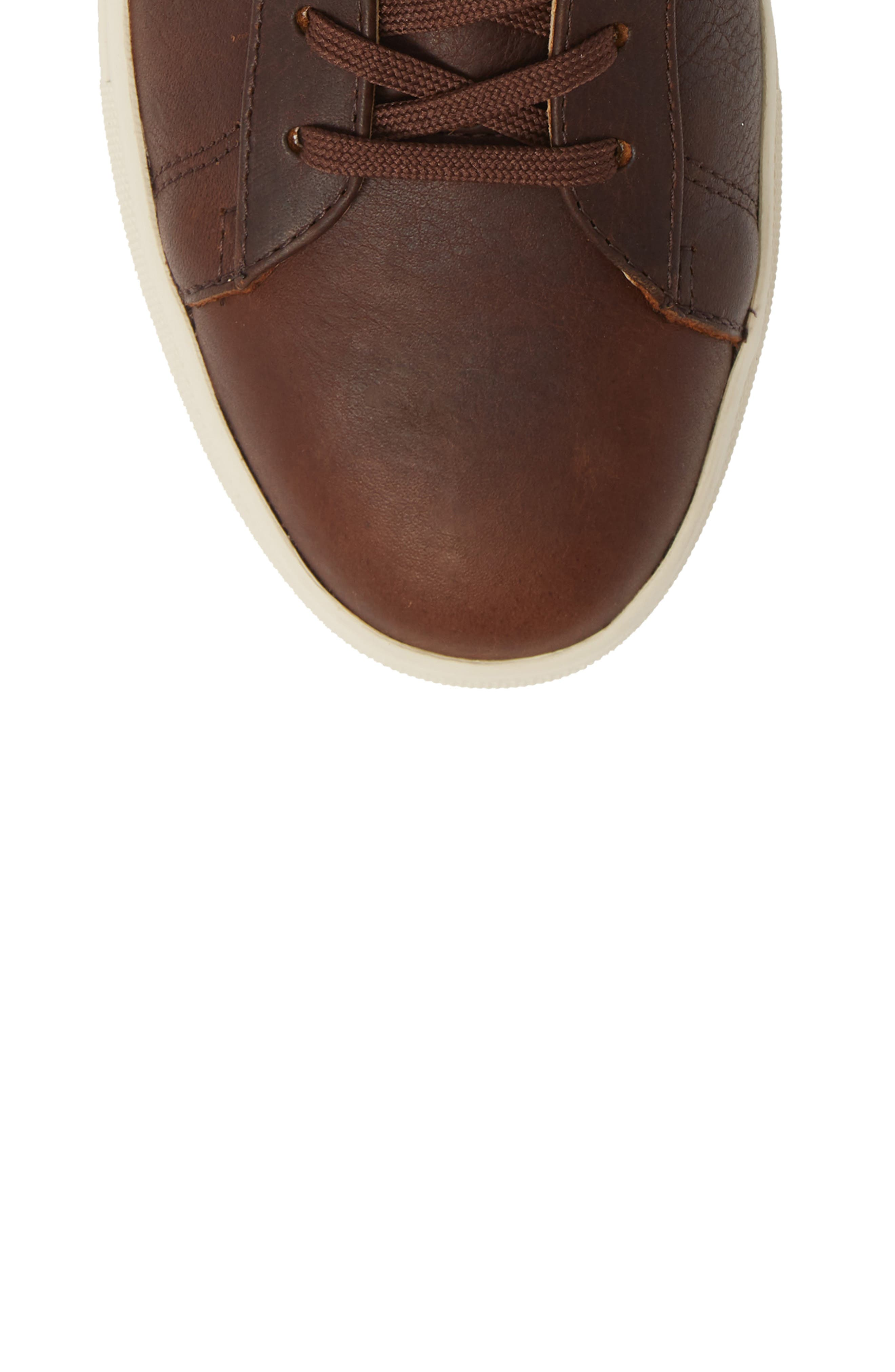 'Bradley Mid' Sneaker,                             Alternate thumbnail 5, color,                             COCOA LEATHER