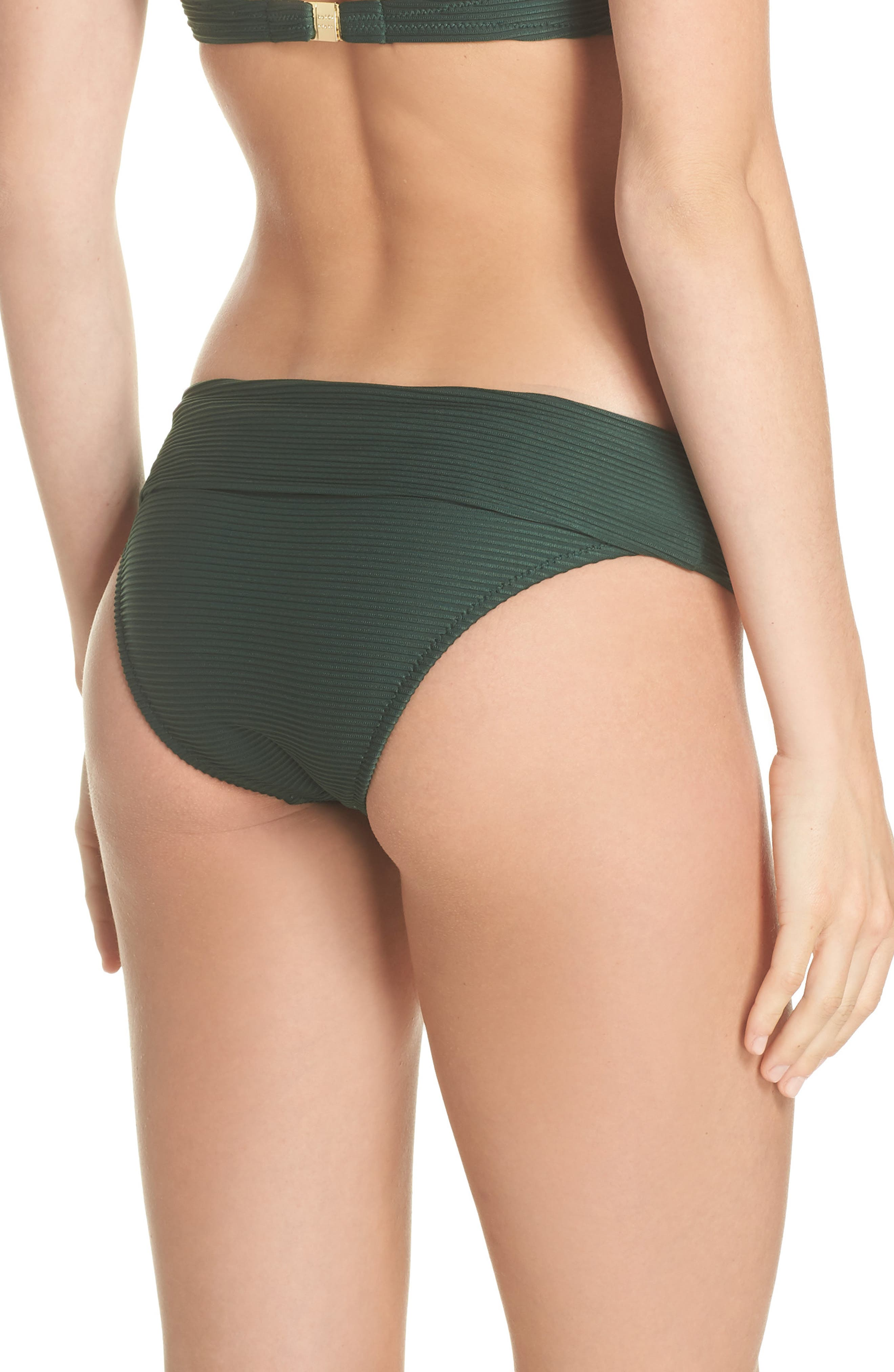 Foldover Bikini Bottoms,                             Alternate thumbnail 2, color,                             GREEN