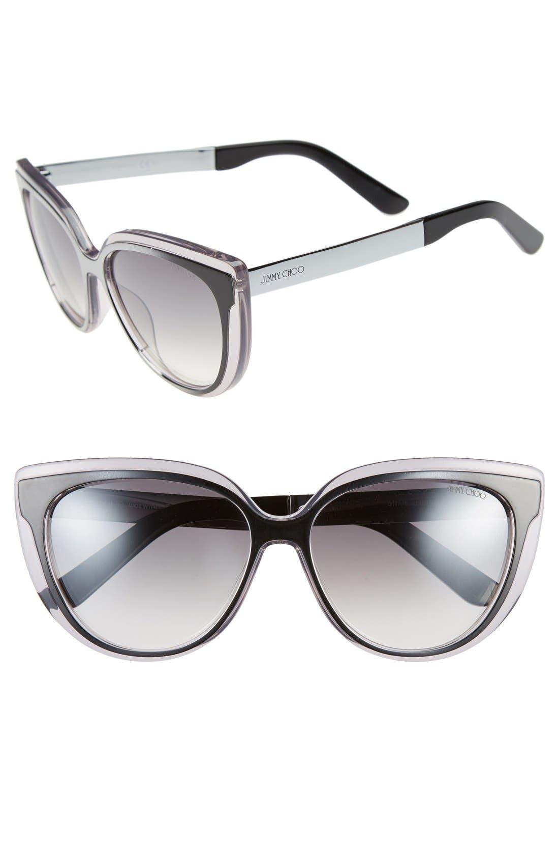 'Cindy' 57mm Retro Sunglasses,                             Main thumbnail 2, color,
