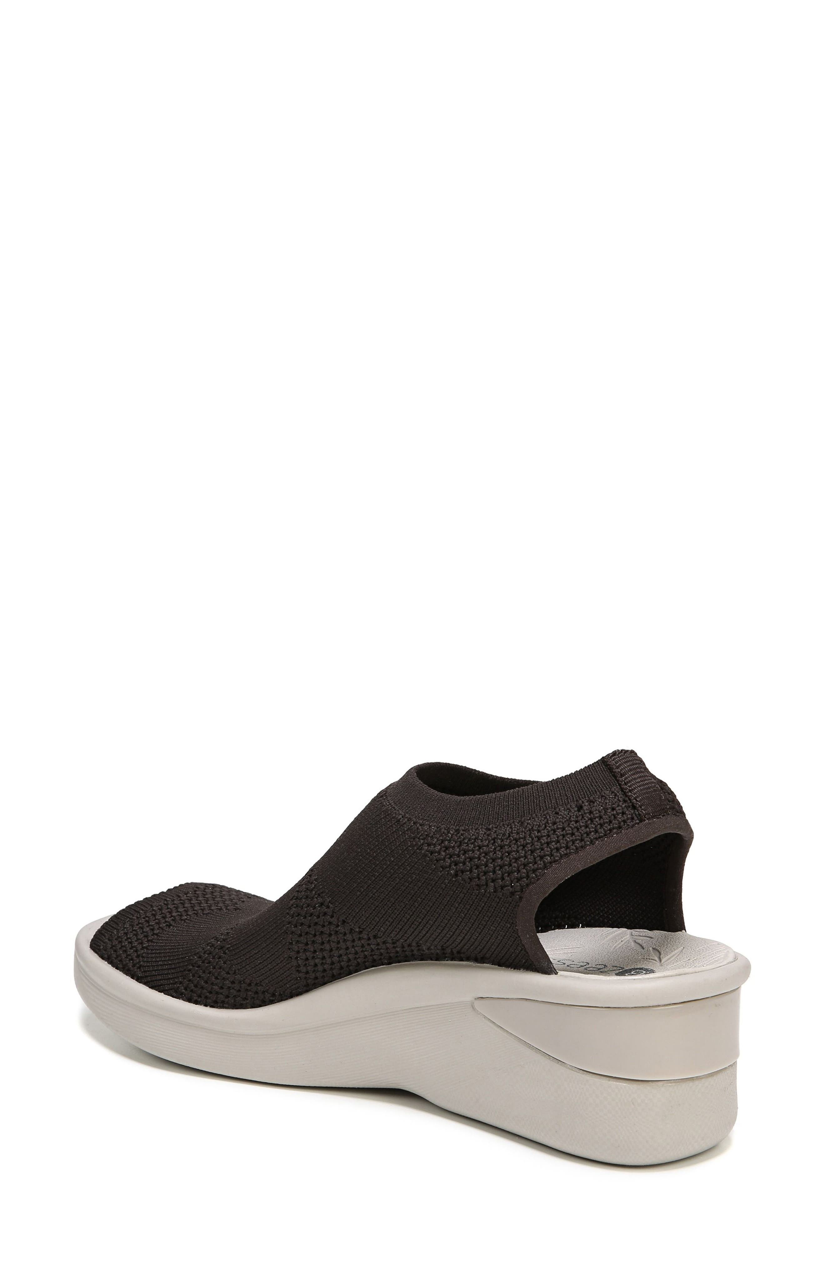 Secret Peep Toe Knit Sneaker,                             Alternate thumbnail 2, color,                             BROWN FABRIC