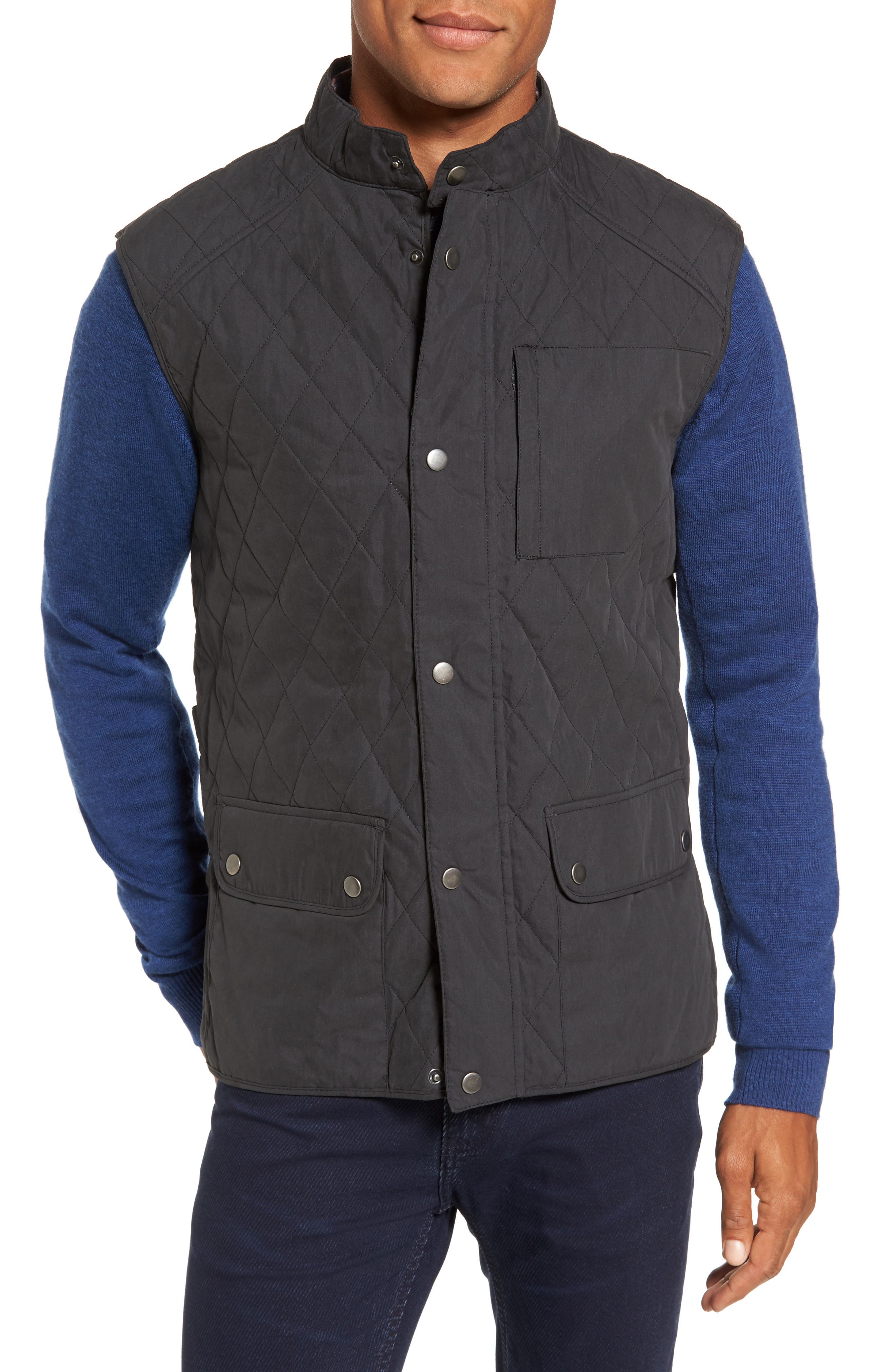 3-in-1 Waxed Cotton Jacket with Removable Vest,                             Alternate thumbnail 4, color,                             250