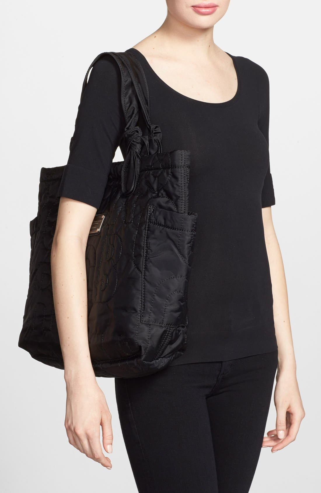 MARC JACOBS,                             MARC BY MARC JACOBS 'Medium Pretty Nylon Tate' Tote,                             Alternate thumbnail 3, color,                             001