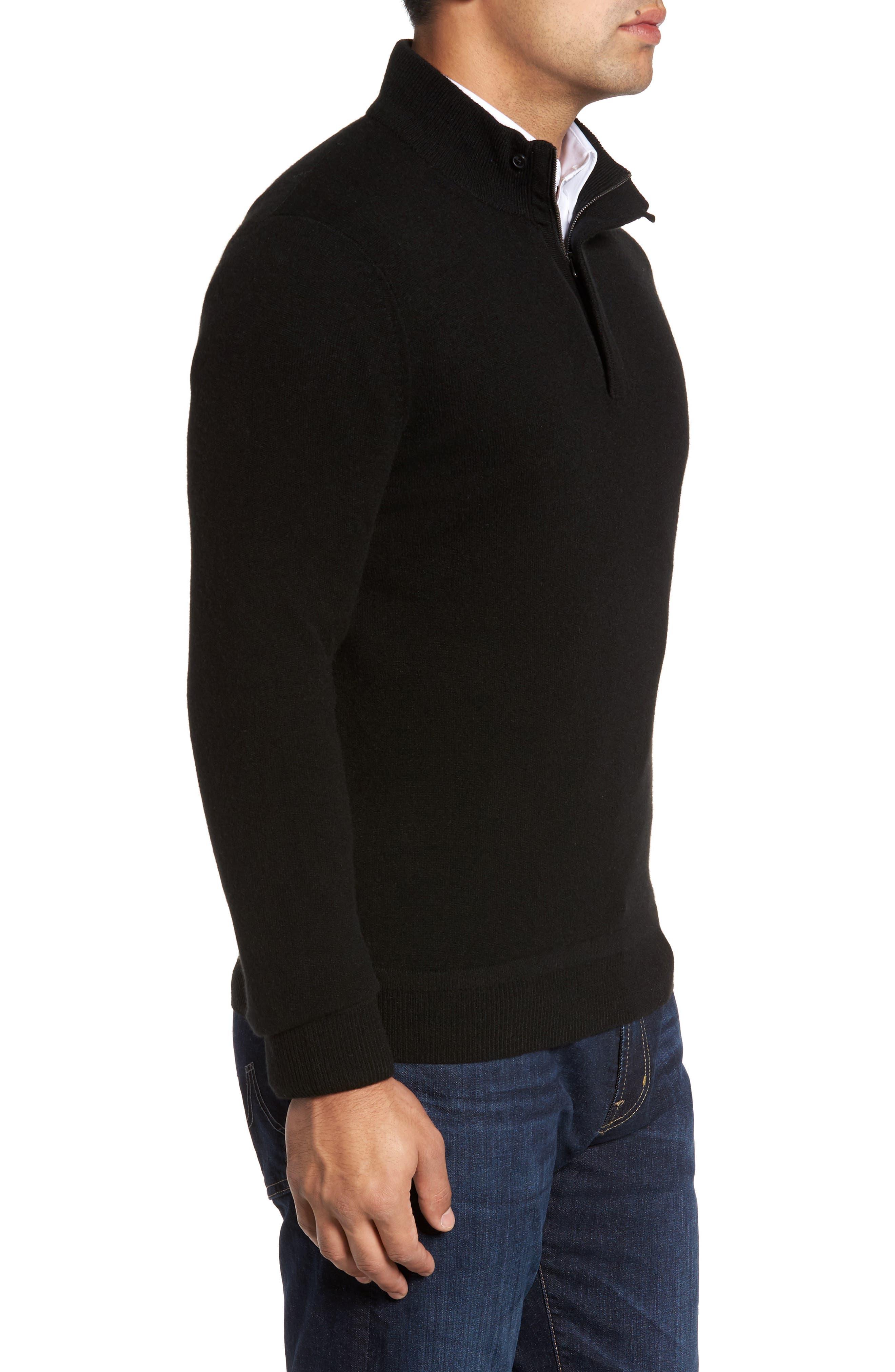 Cashmere Quarter Zip Sweater,                             Alternate thumbnail 13, color,