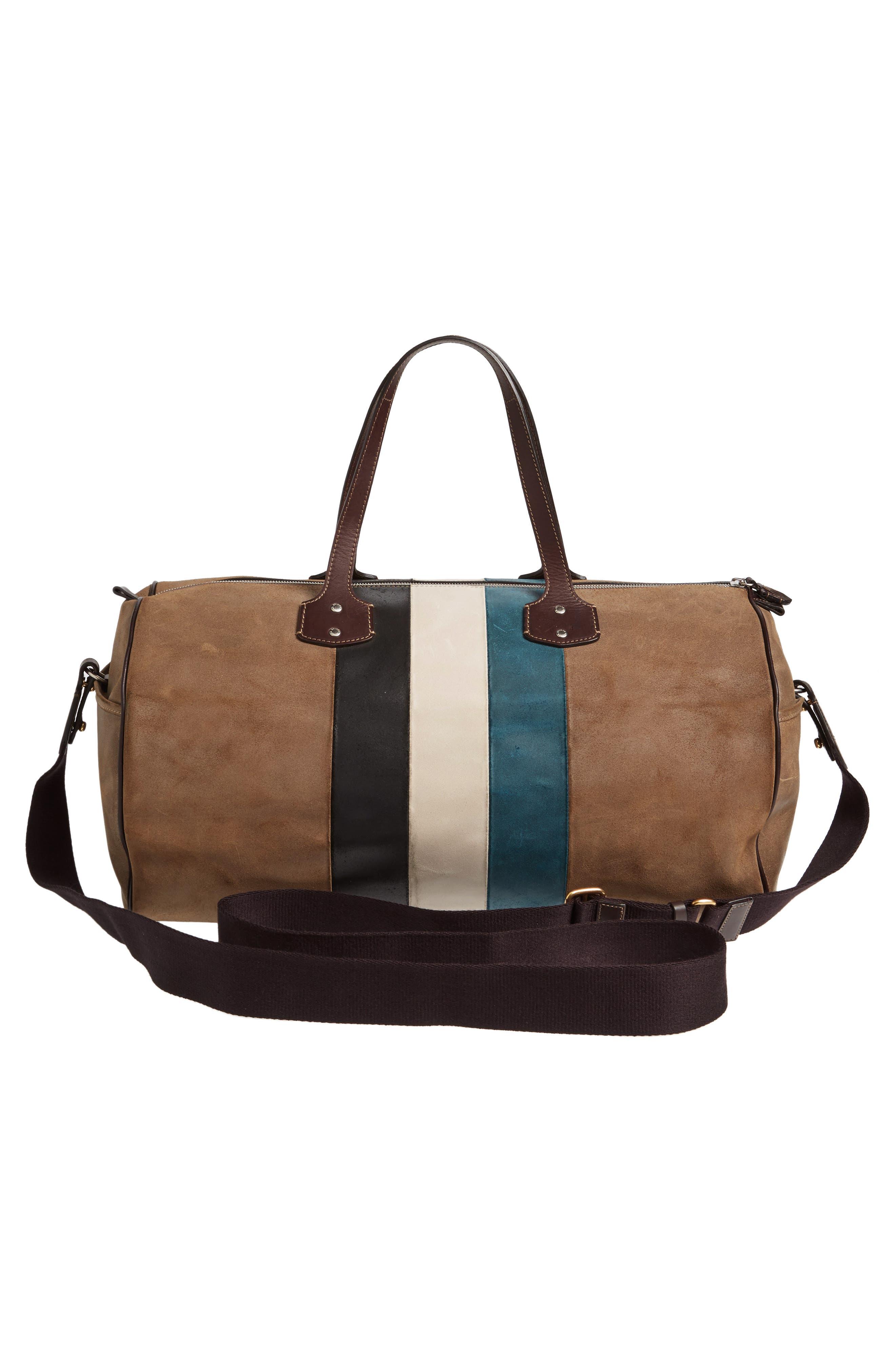 Grove Stripe Leather Duffel Bag,                             Alternate thumbnail 2, color,                             250