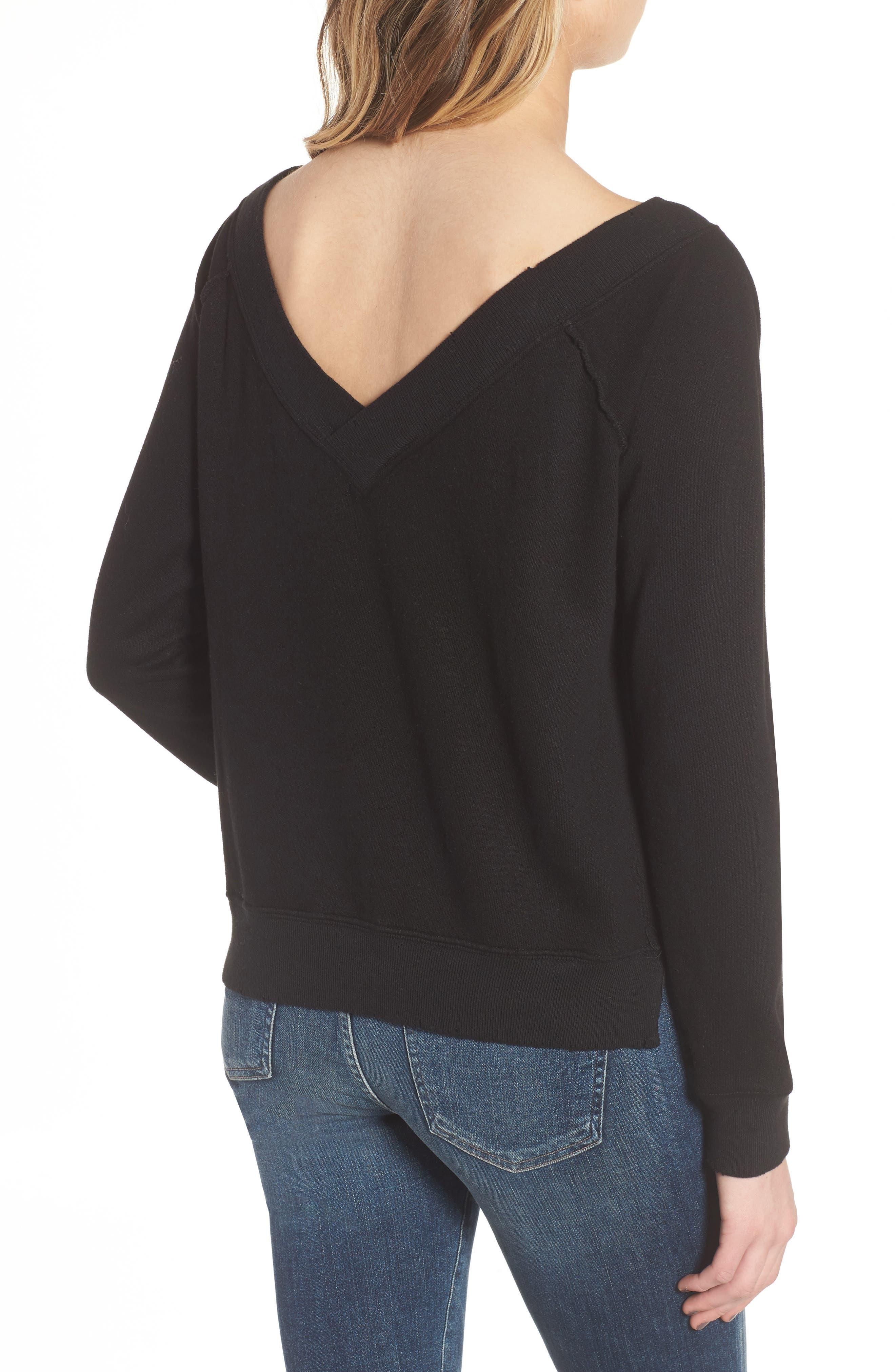 Mayer V-Neck Sweatshirt,                             Alternate thumbnail 2, color,                             002