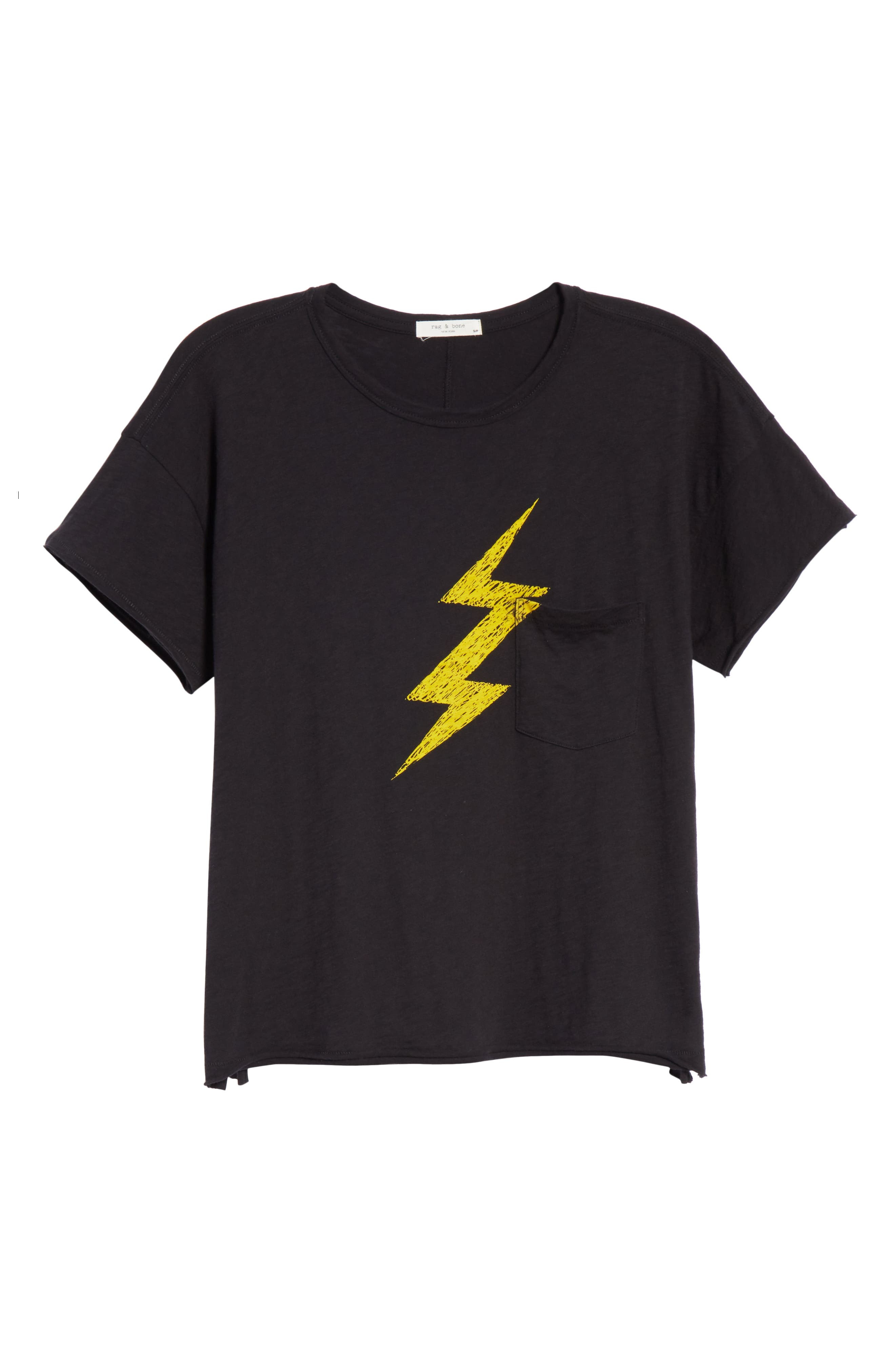 Lightning Vintage Tee,                             Alternate thumbnail 6, color,                             BLACK