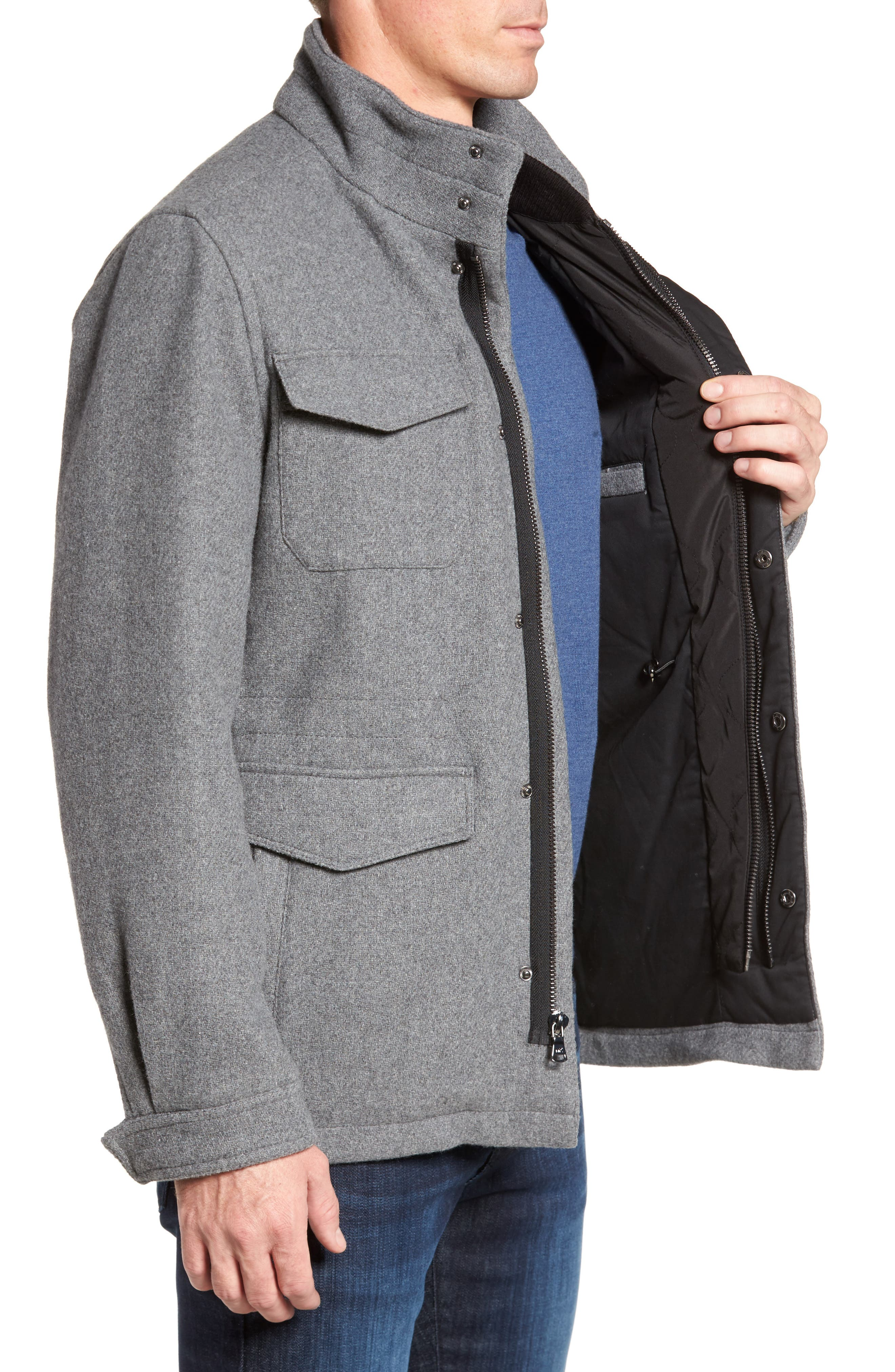 Regular Fit Double Layer Field Jacket,                             Alternate thumbnail 10, color,