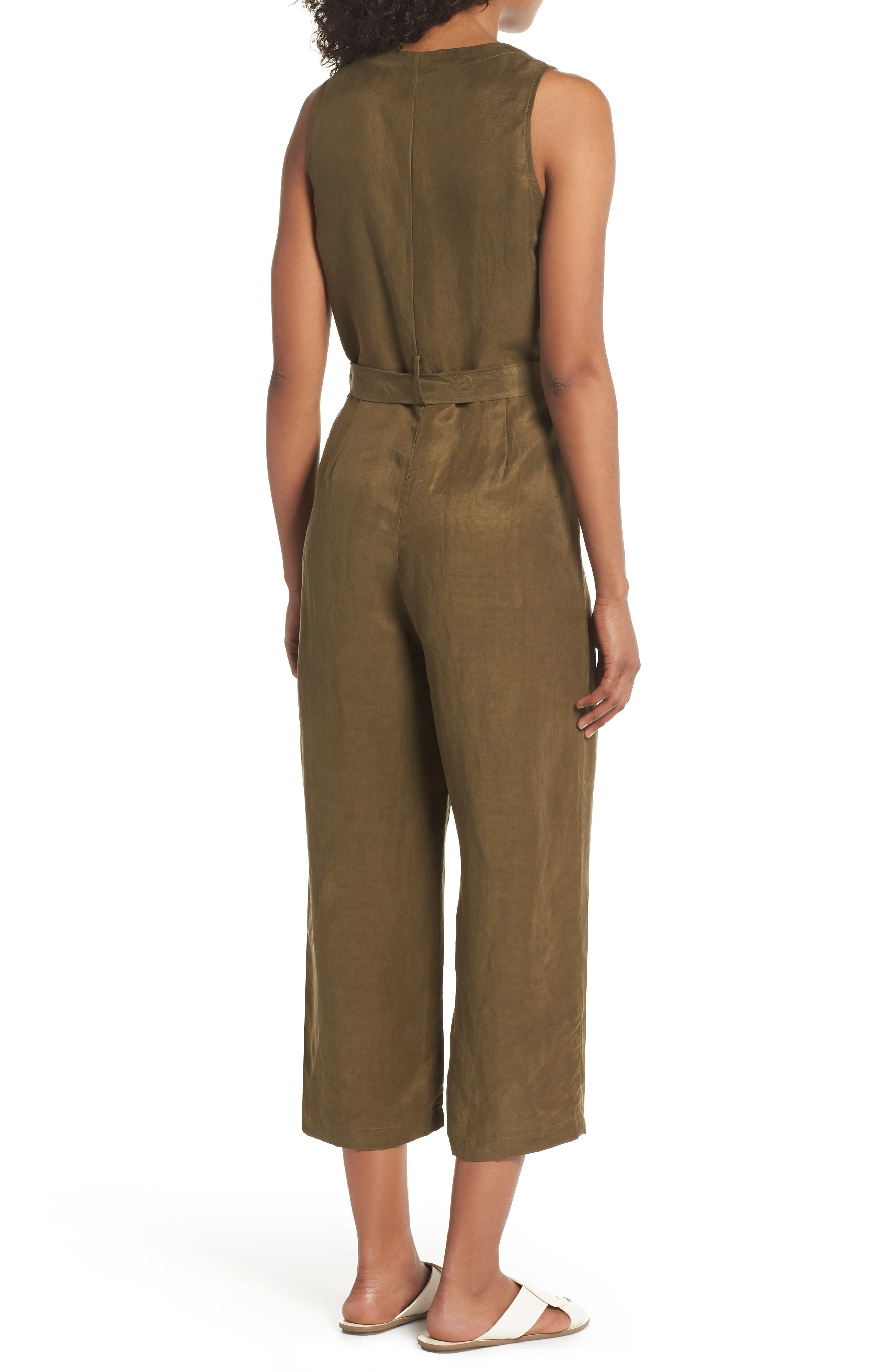Sleeveless V-Neck Jumpsuit,                             Alternate thumbnail 2, color,                             300