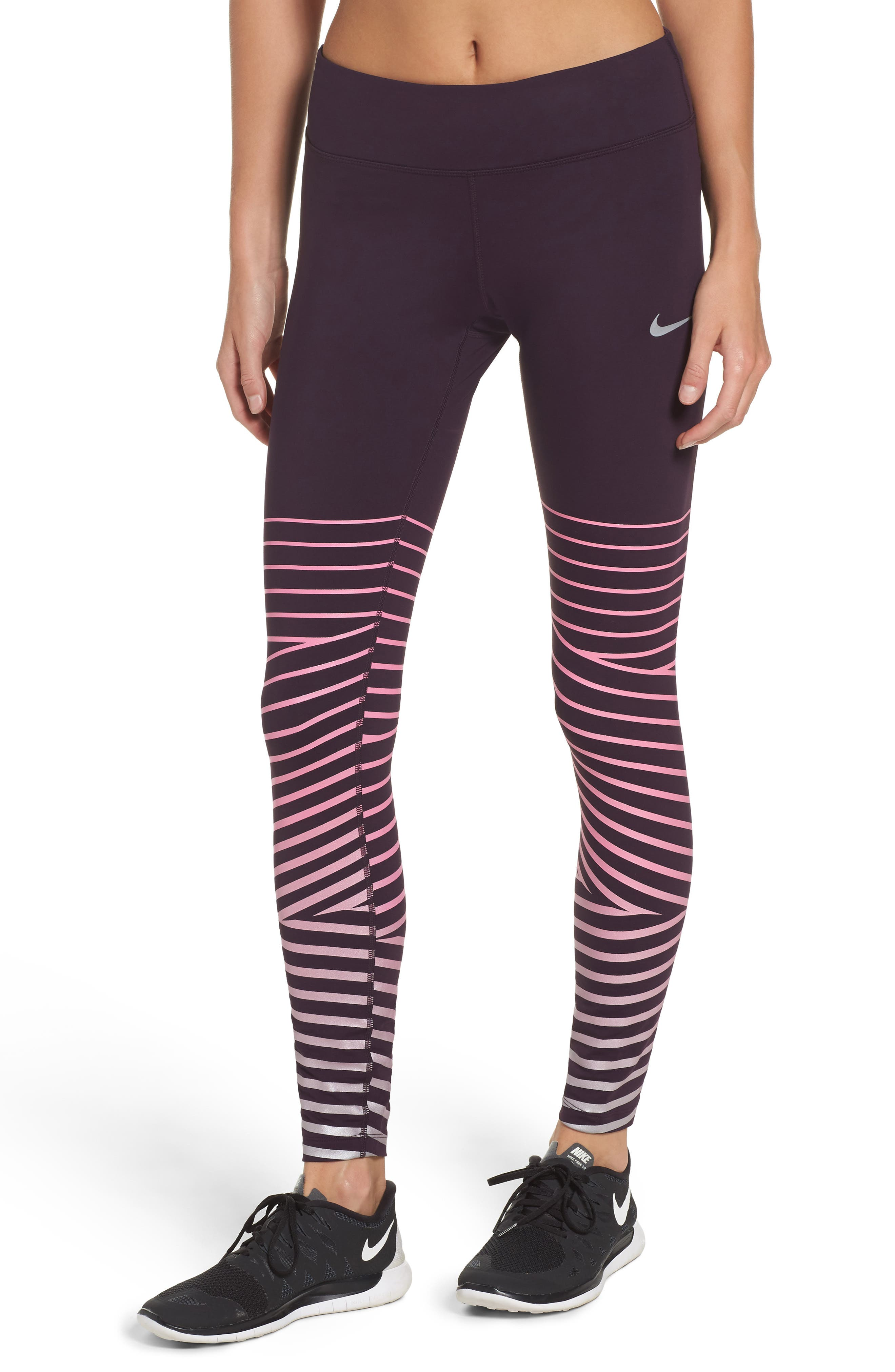 Power Epic Lux Flash Running Tights,                             Main thumbnail 5, color,