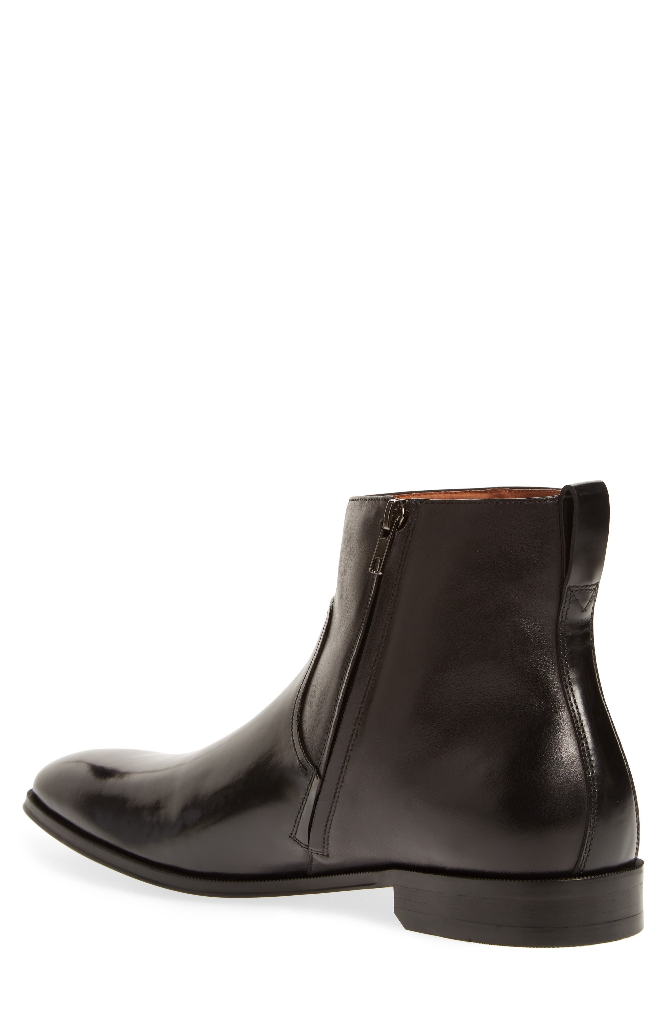 Belfast Mid Zip Boot,                             Alternate thumbnail 2, color,                             BLACK LEATHER