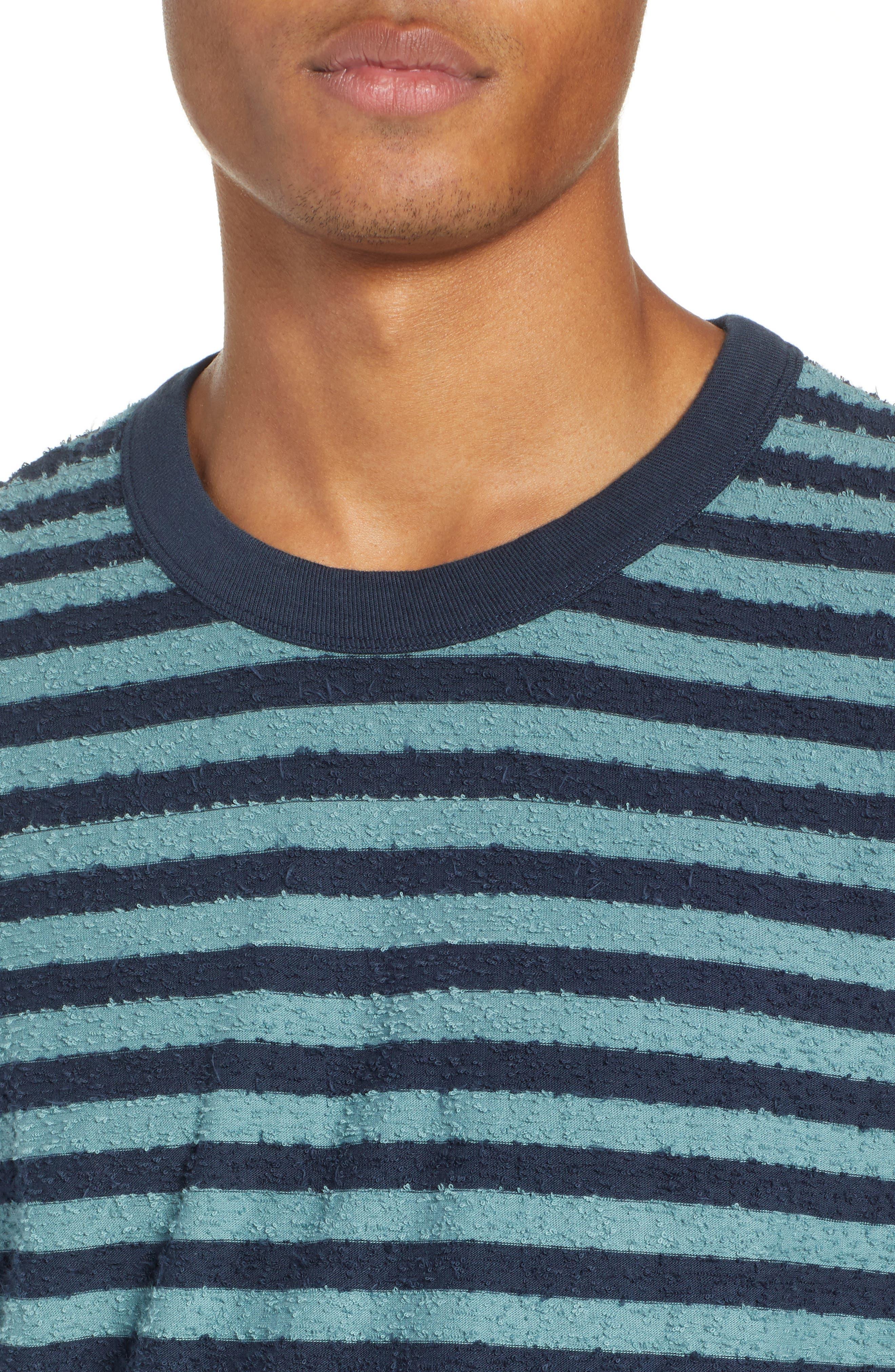 Stripe Slub T-Shirt,                             Alternate thumbnail 4, color,                             ARCTIC TONY