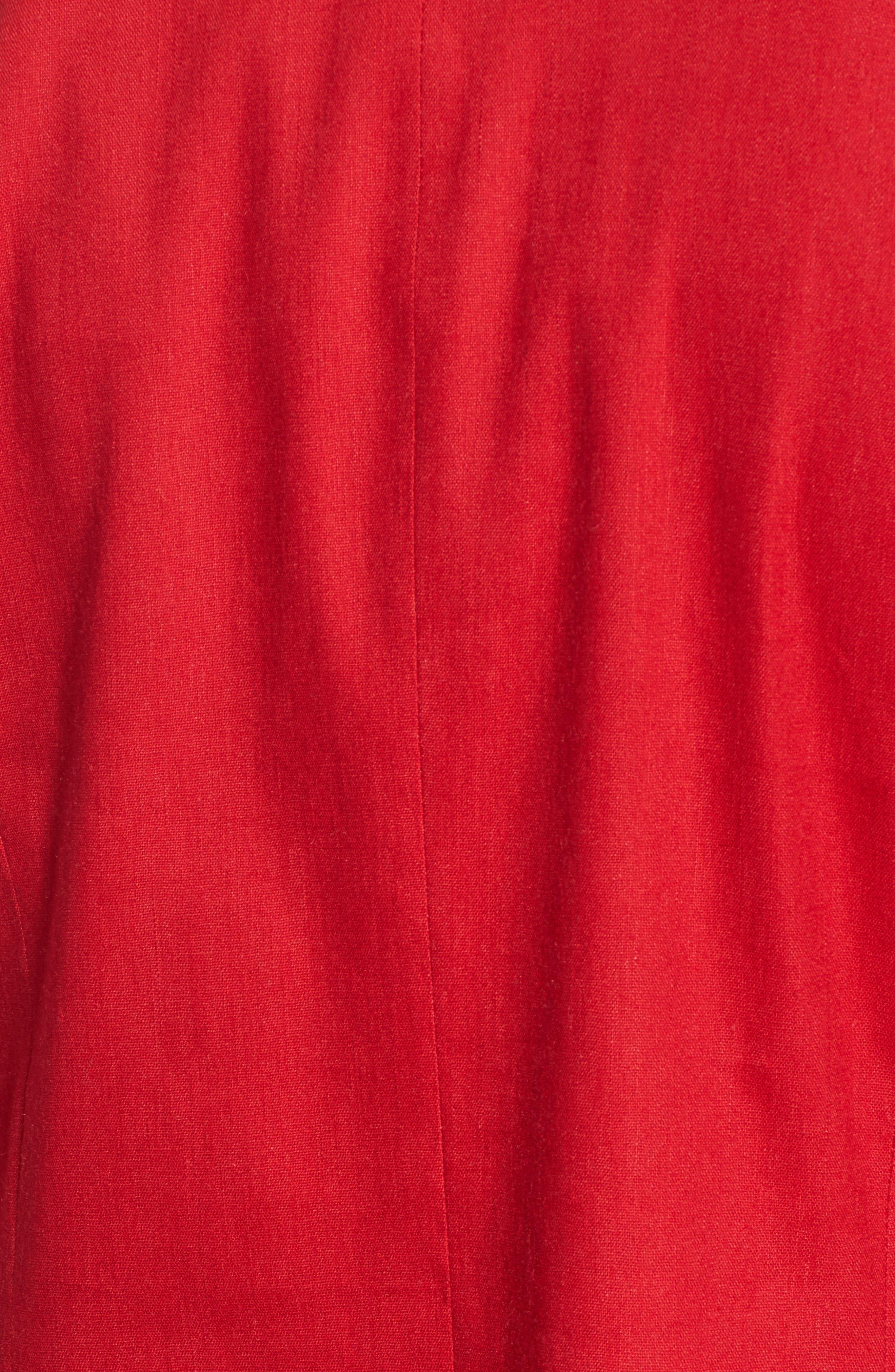 Double Breasted Linen Blend Blazer,                             Alternate thumbnail 29, color,
