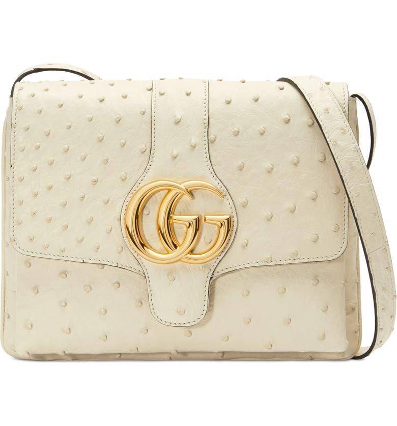 Gucci Medium Arli Ostrich Shoulder Bag  4a7e6536fa6a8