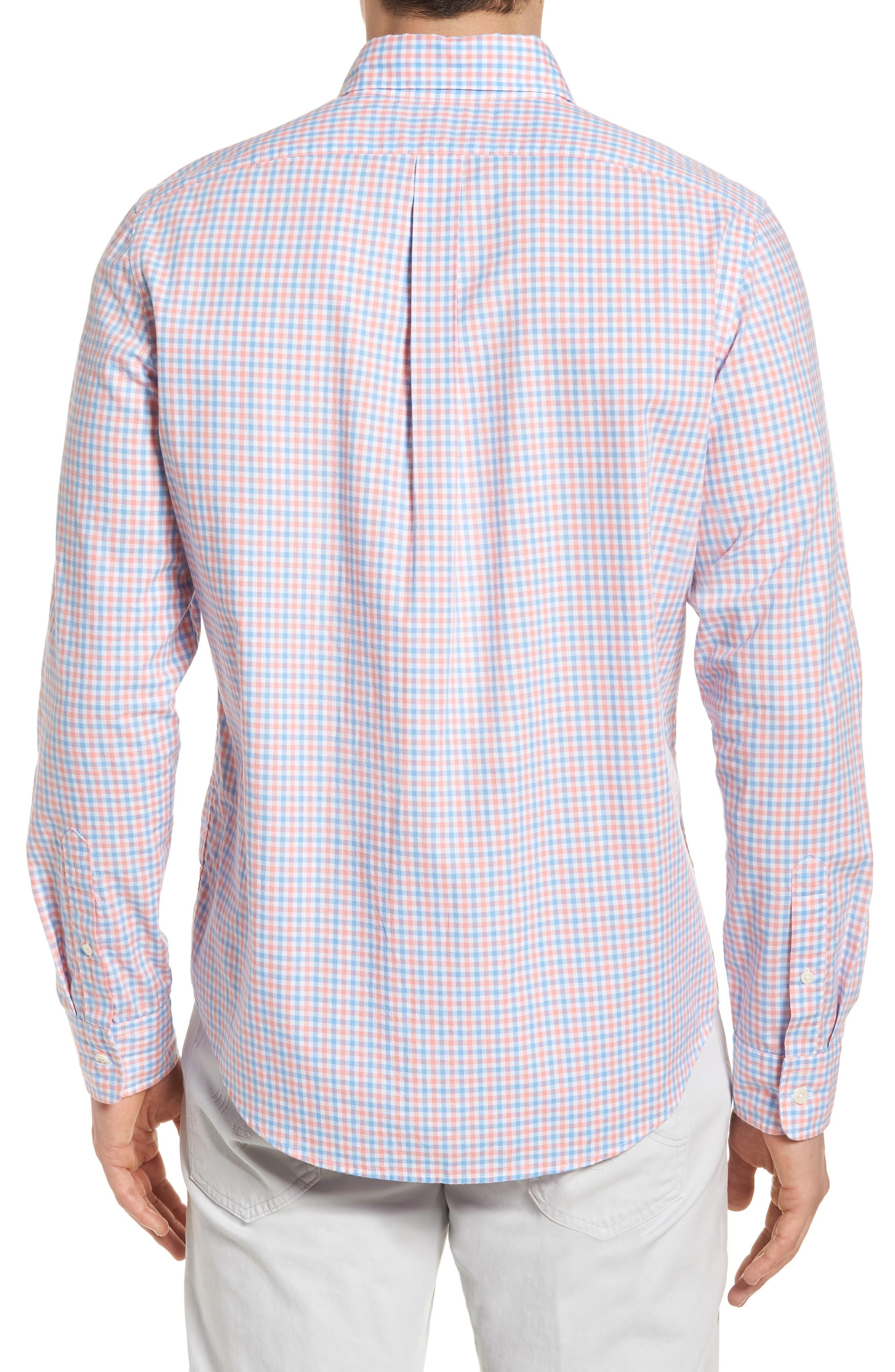 Tipsy Turtle Check Slim Fit Sport Shirt,                             Alternate thumbnail 6, color,