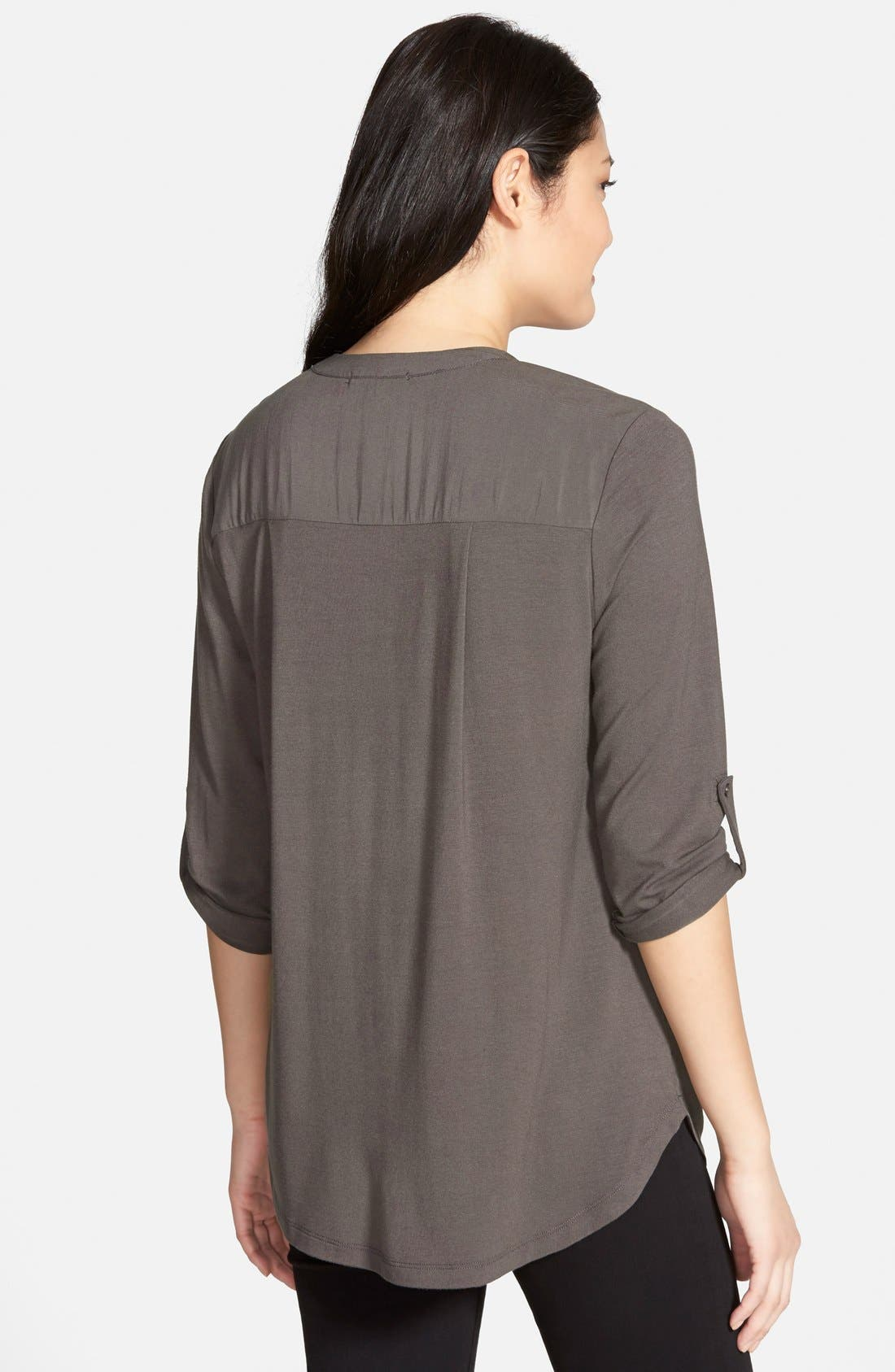 Mixed Media V-Neck Tunic,                             Alternate thumbnail 76, color,