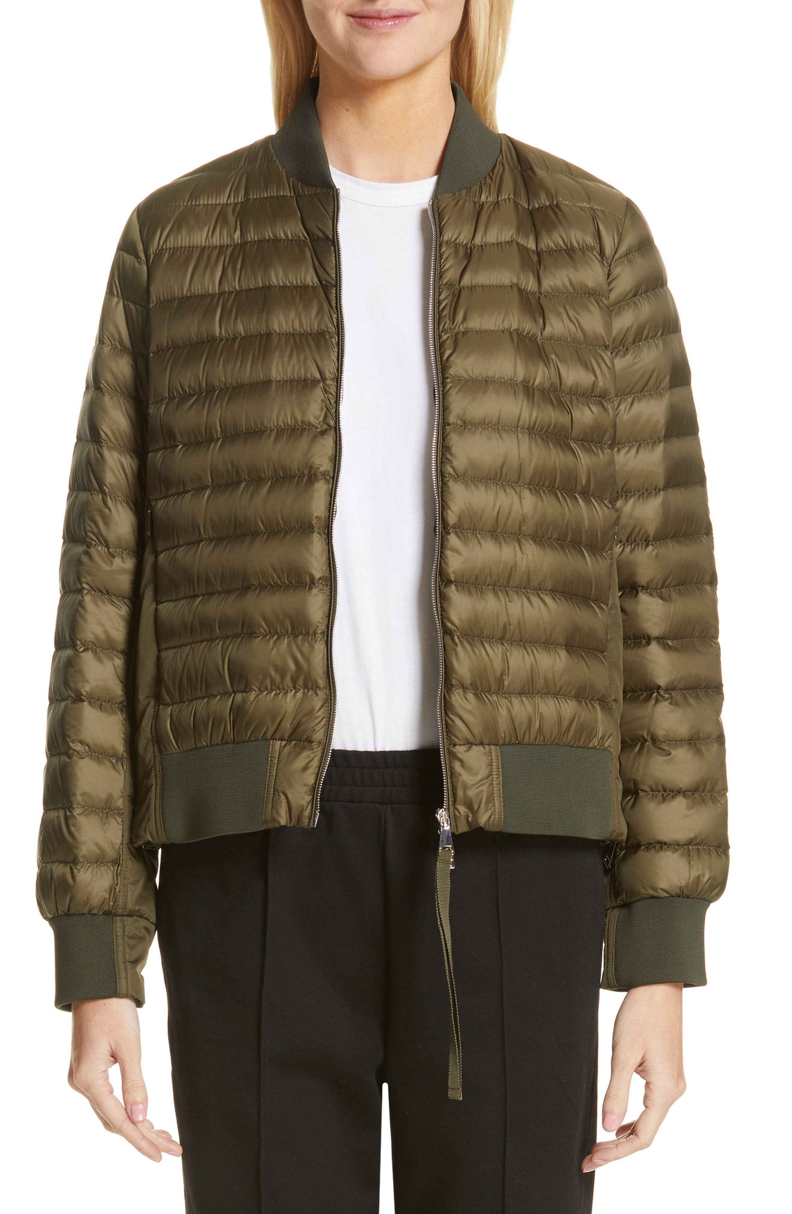 MONCLER,                             Rome Quilted Down Jacket,                             Main thumbnail 1, color,                             DARK GREEN