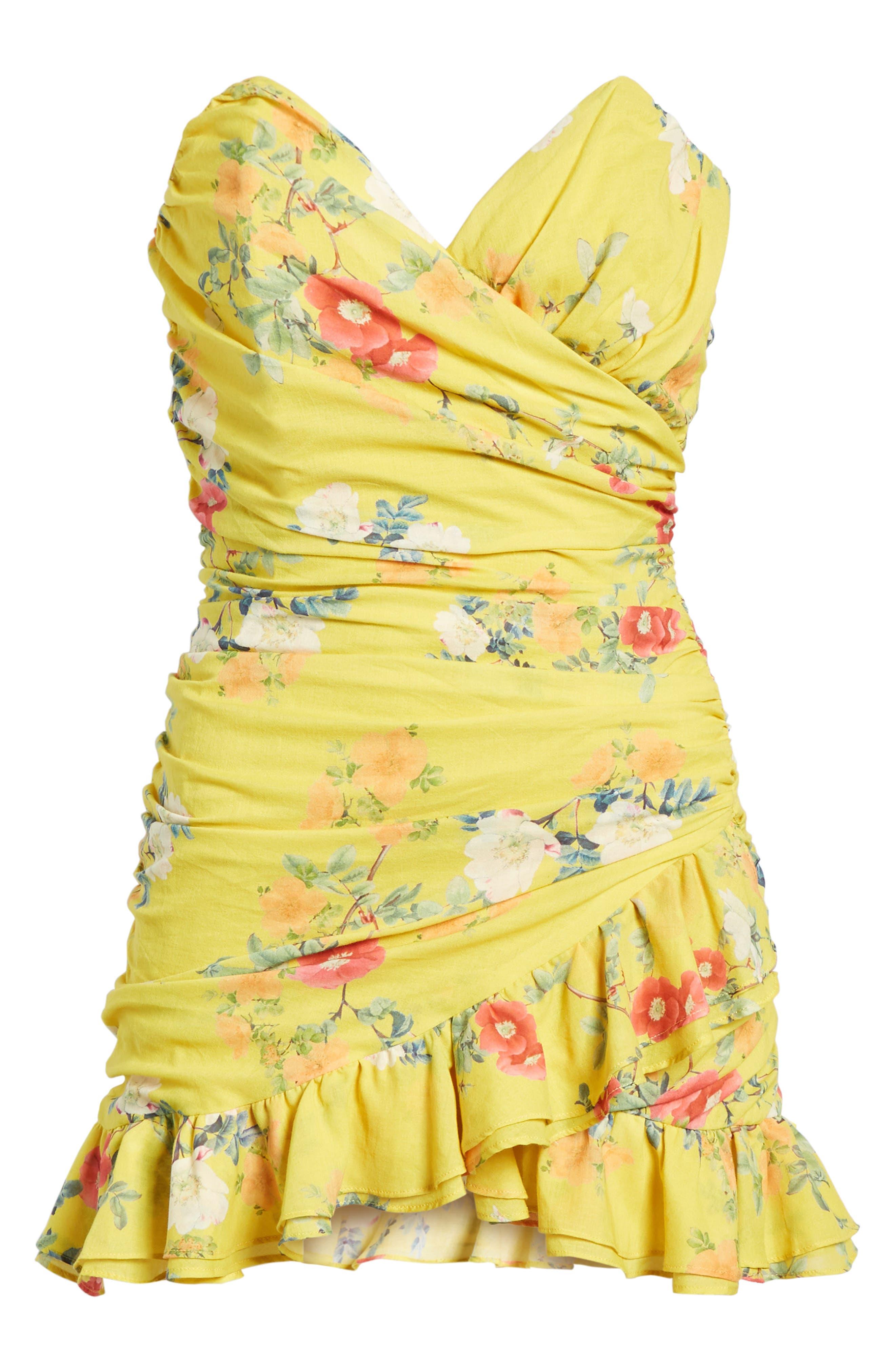 Casey Strapless Minidress,                             Alternate thumbnail 7, color,