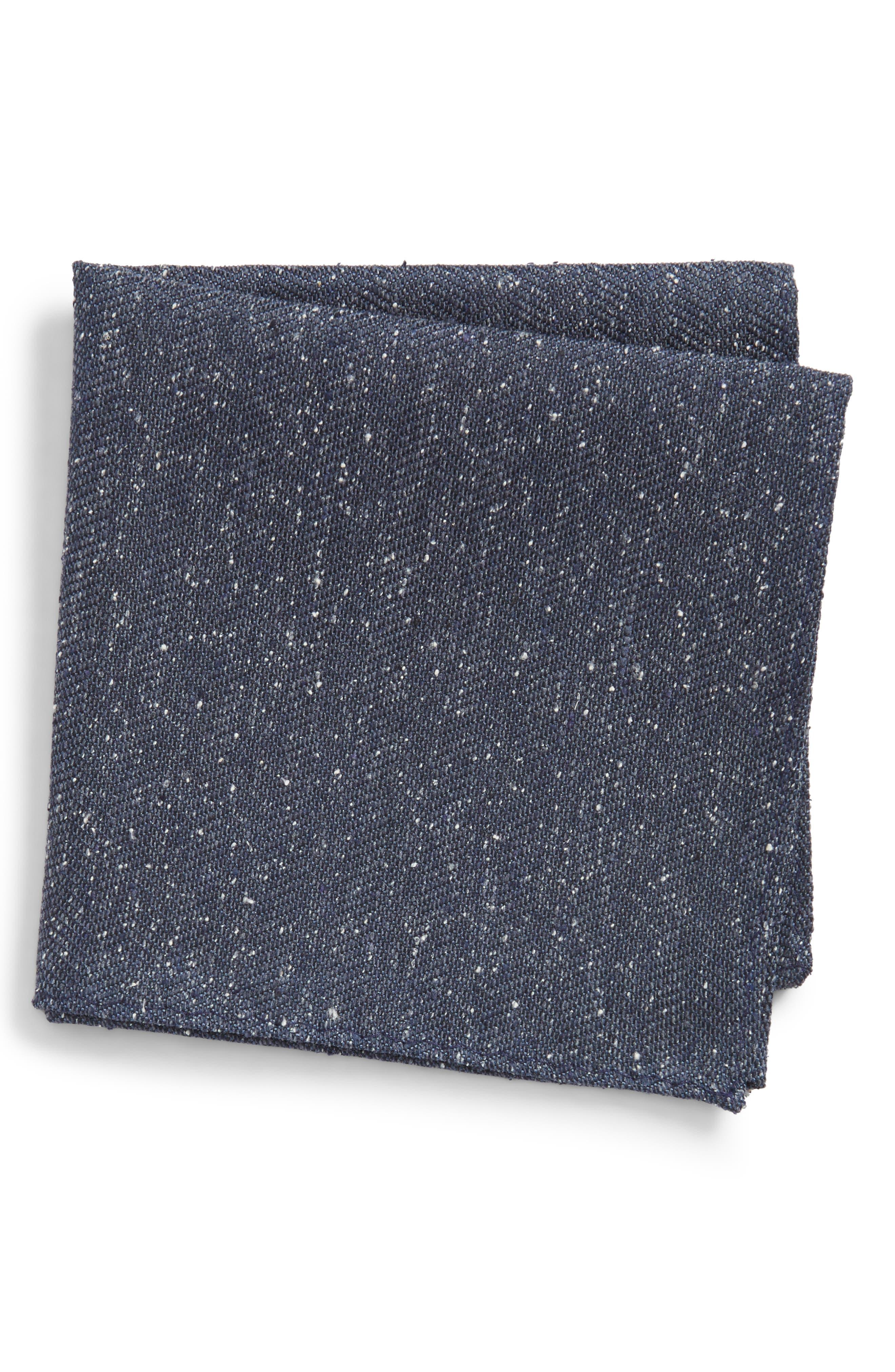 Threaded Zigzag Silk Pocket Square,                             Main thumbnail 2, color,