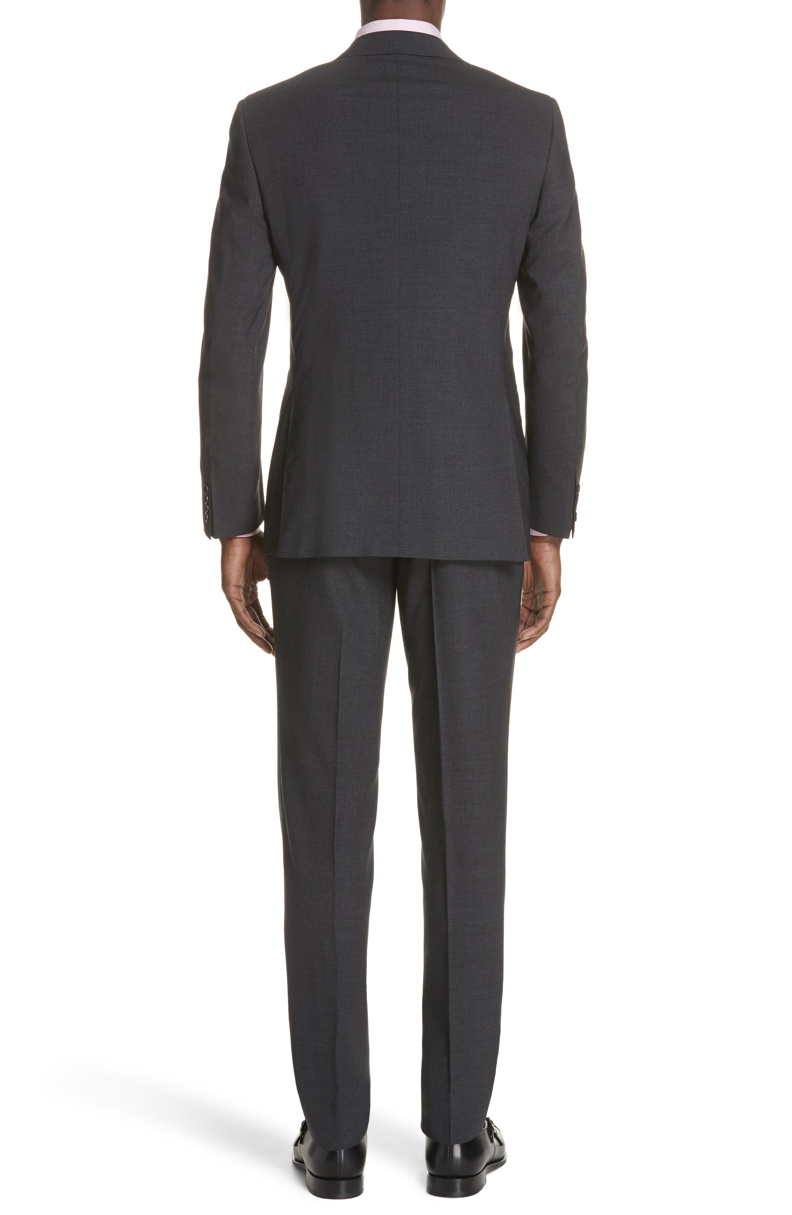 Classic Fit Stretch Solid Wool Suit,                             Alternate thumbnail 2, color,                             CHARCOAL