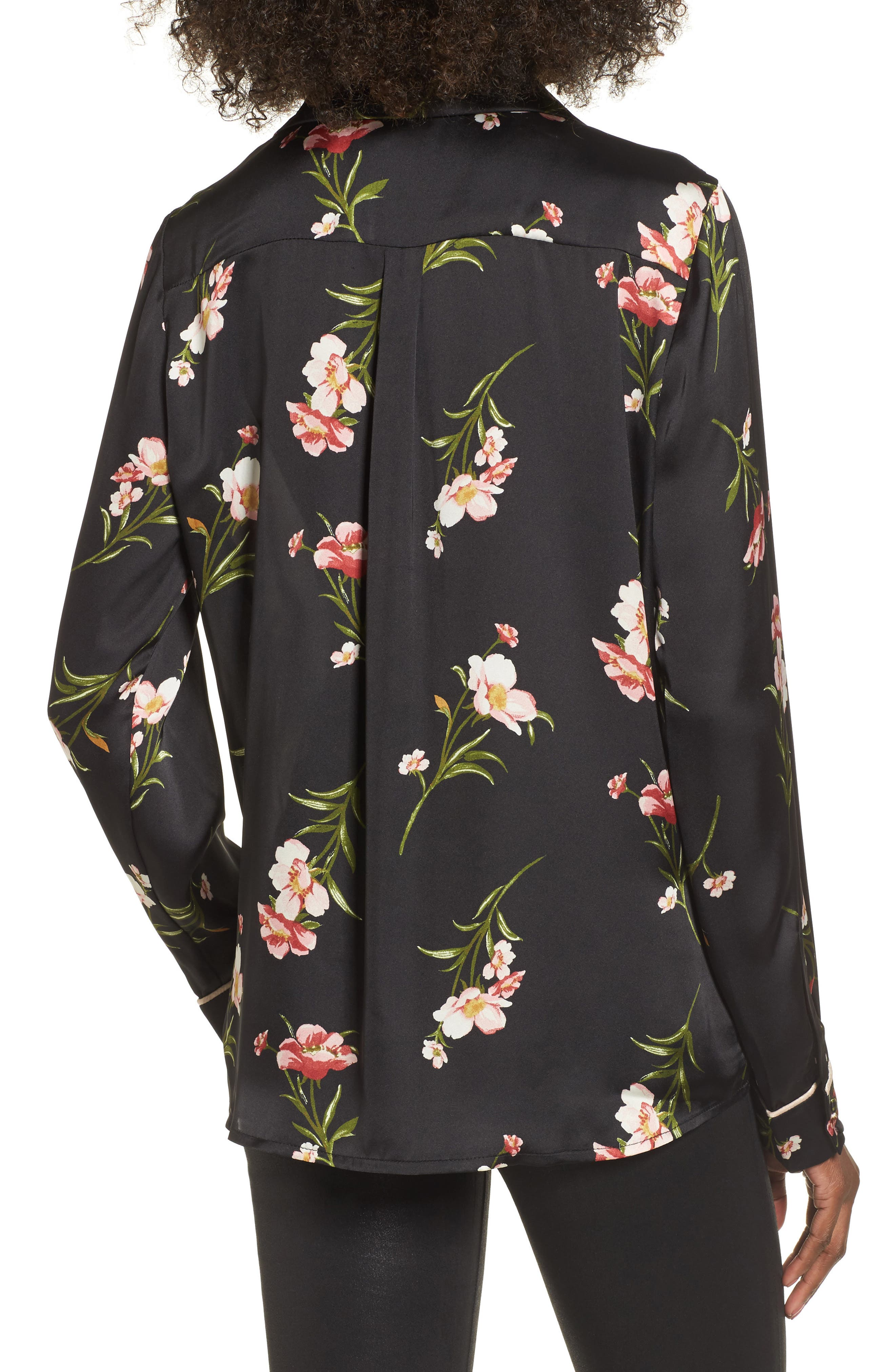 Floral PJ Shirt,                             Alternate thumbnail 2, color,                             001