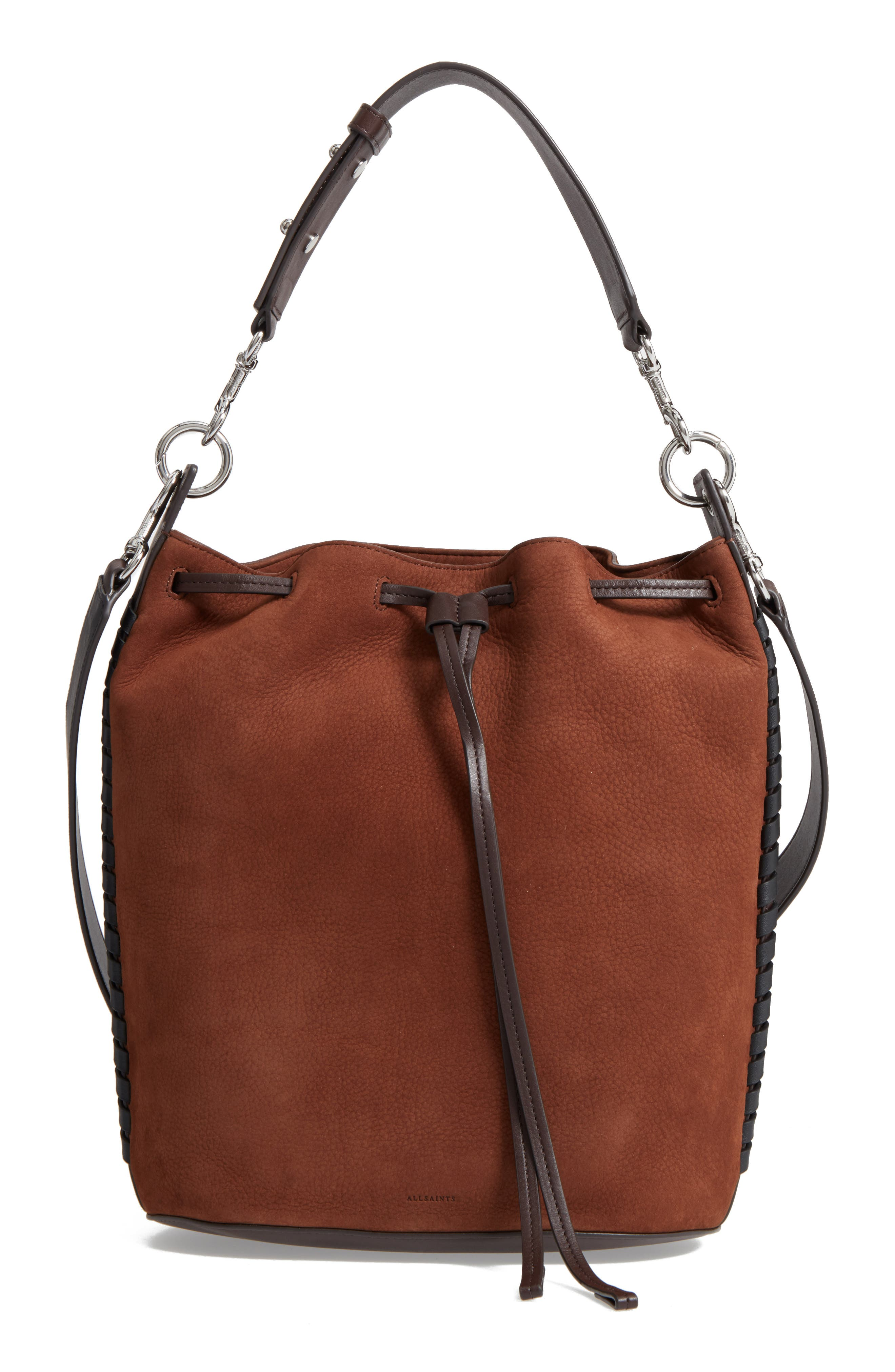 Ray Nubuck Leather Bucket Bag,                             Main thumbnail 1, color,                             200
