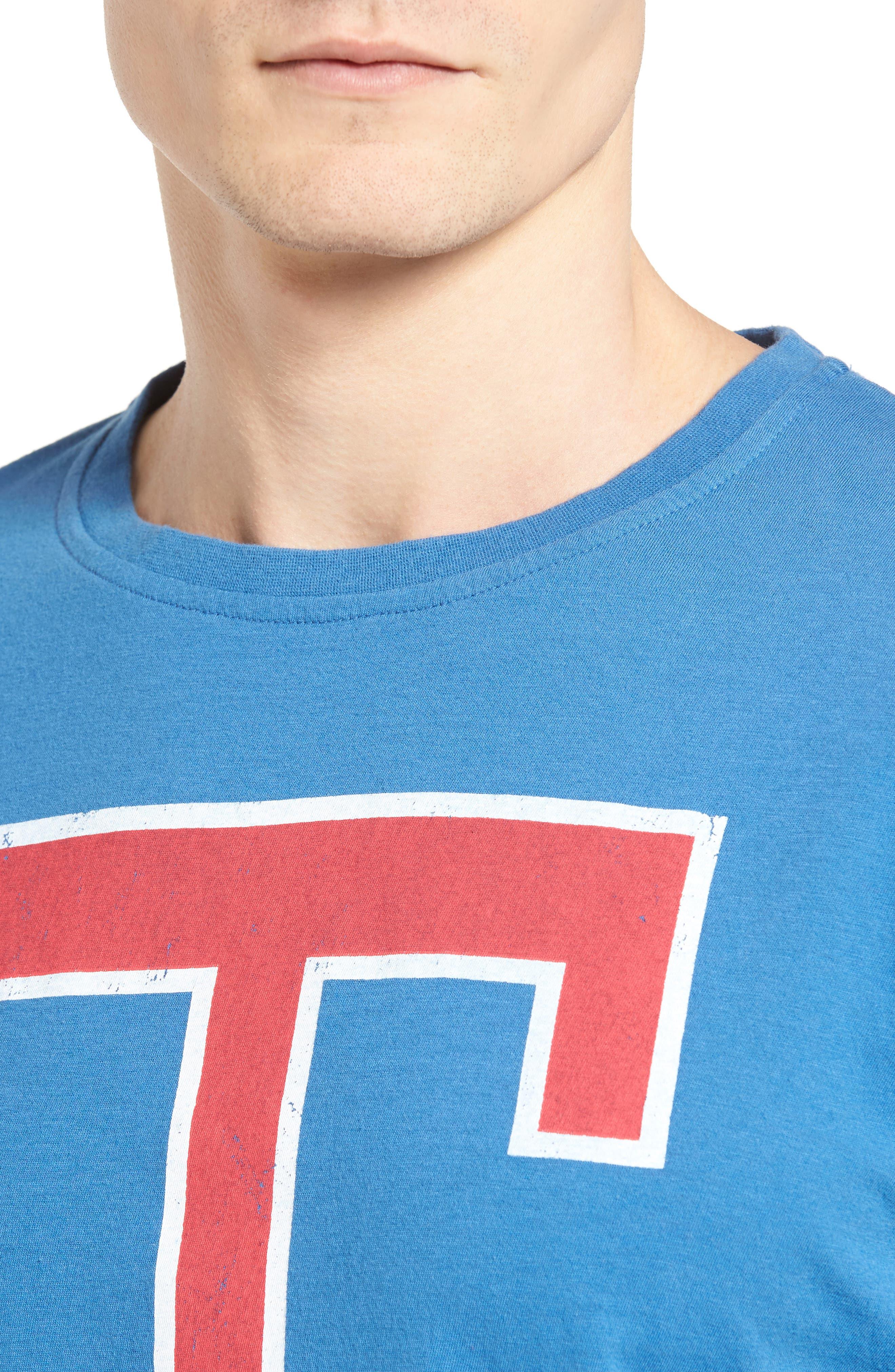 Brass Tack Texas Rangers T-Shirt,                             Alternate thumbnail 4, color,                             450