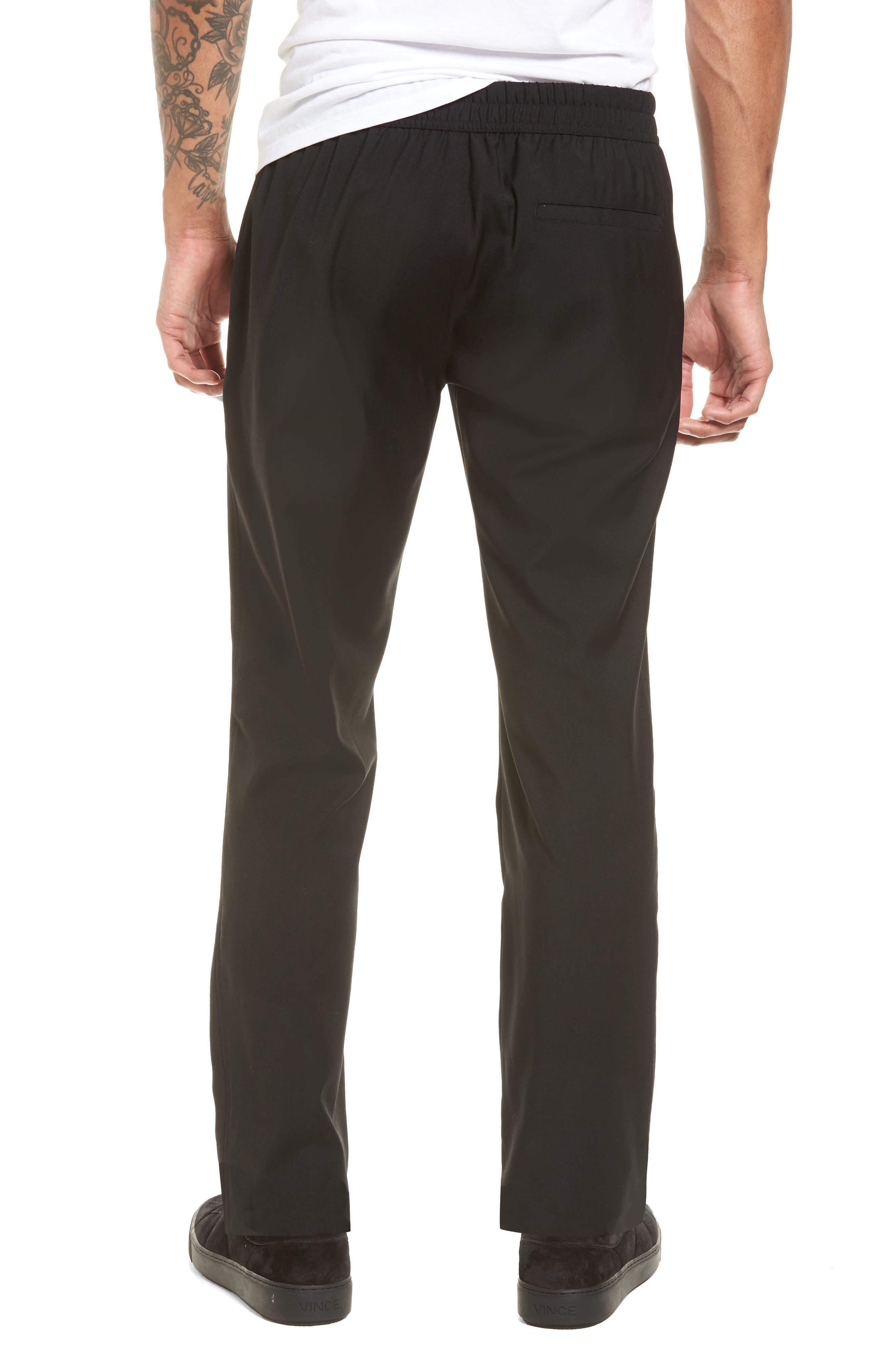 Slim Fit Wool Track Pants,                             Alternate thumbnail 2, color,                             001