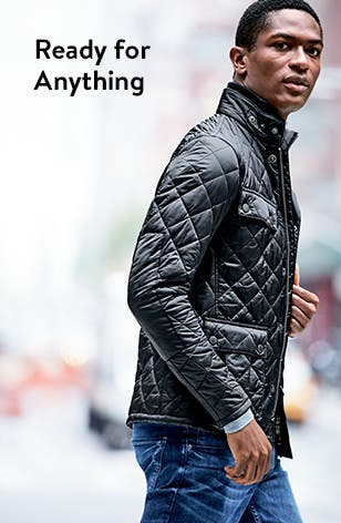 Men's coats: ready for anything.