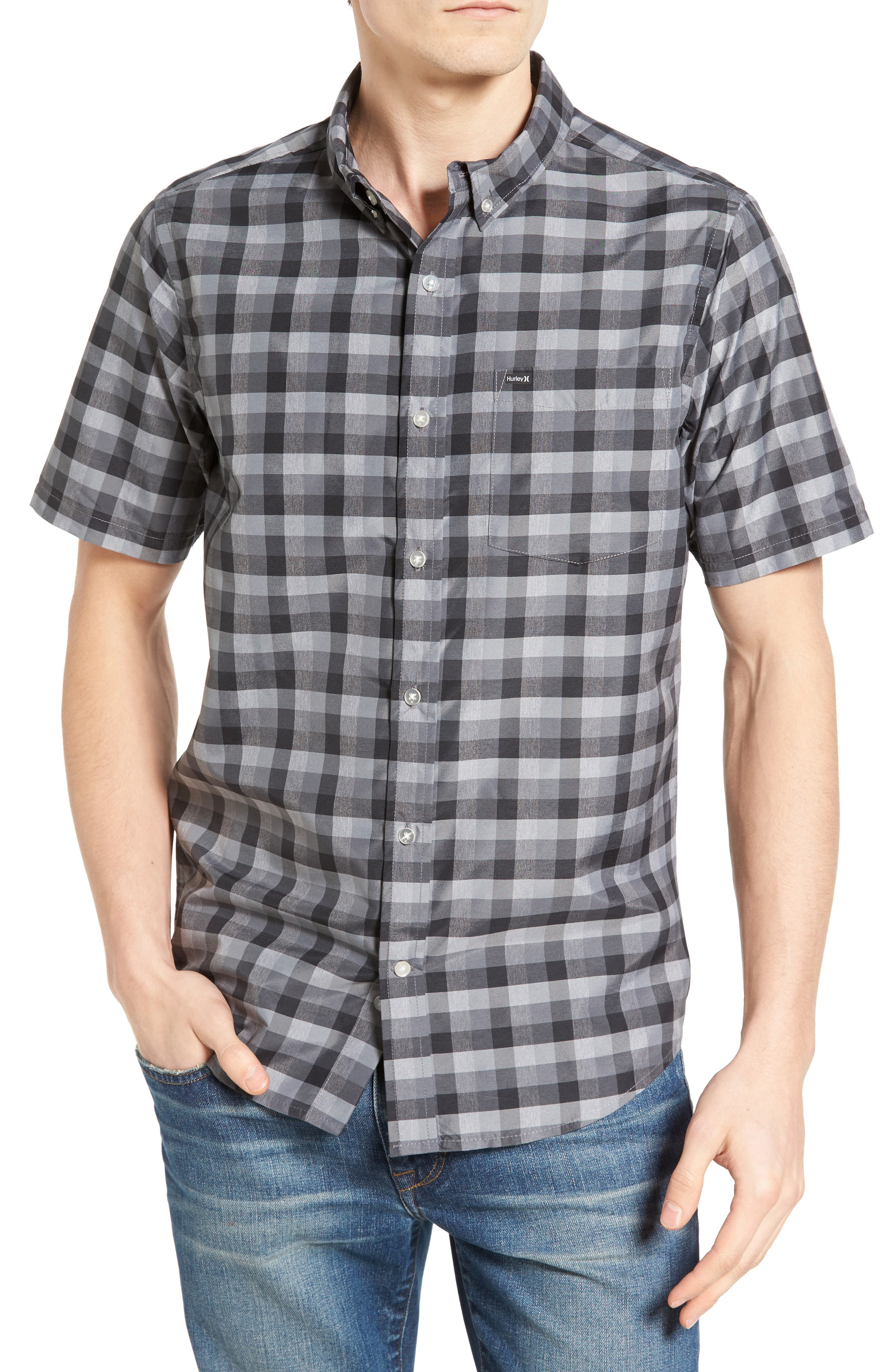 Check Dri-FIT Shirt,                             Main thumbnail 1, color,