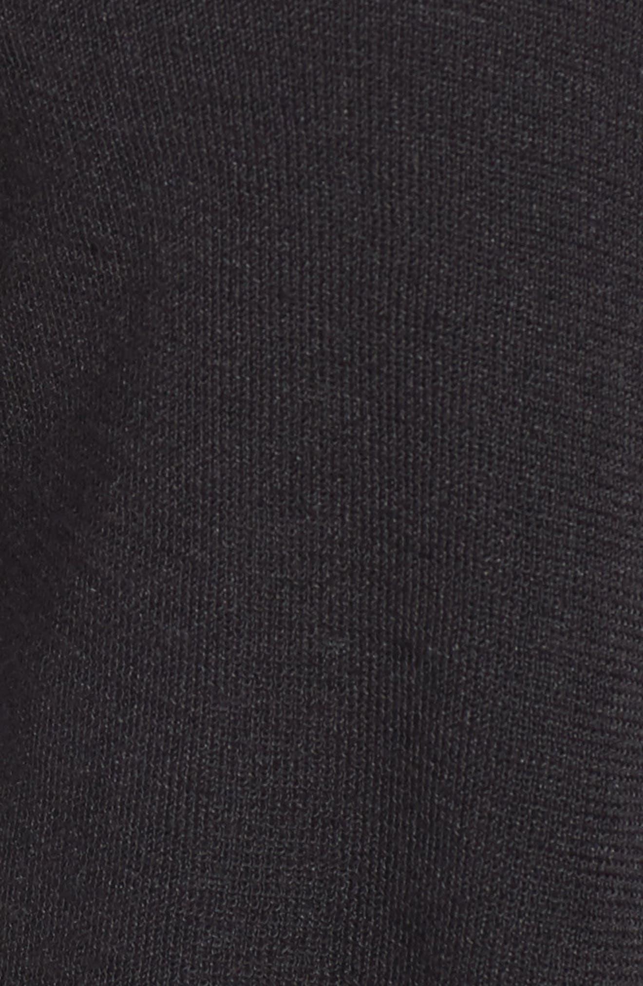 Open Blazer Cardigan,                             Alternate thumbnail 6, color,                             BLACK ONYX