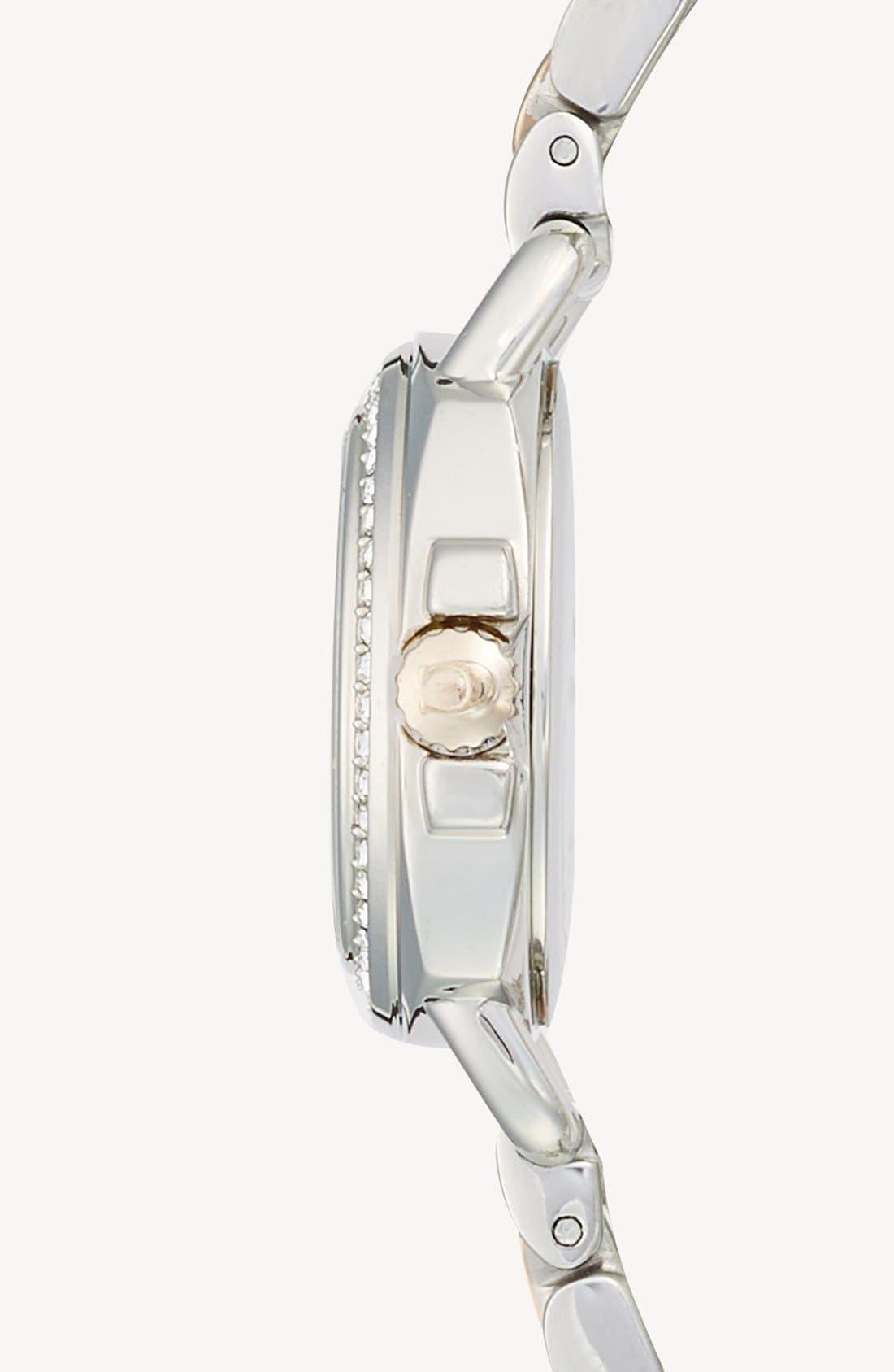 'Tatum' Crystal Bezel Bracelet Watch, 24mm,                             Alternate thumbnail 3, color,                             710