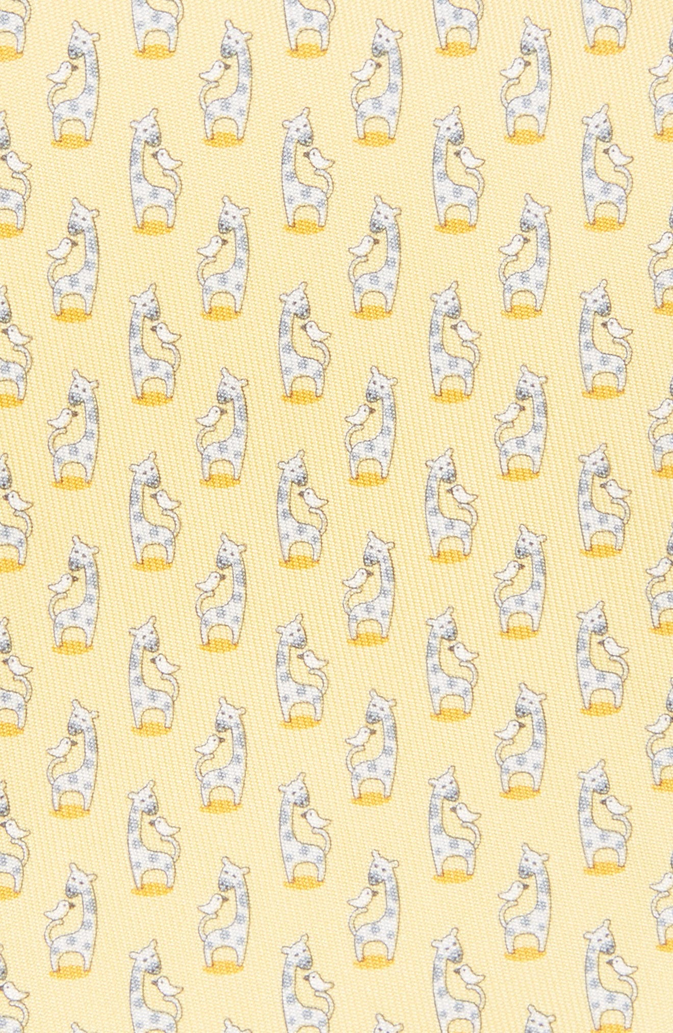 Giraffe Silk Tie,                             Alternate thumbnail 8, color,