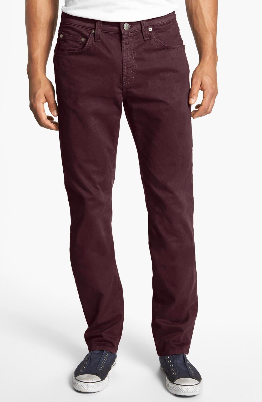 'Kane' Slim Fit Cotton Twill Pants,                             Main thumbnail 21, color,