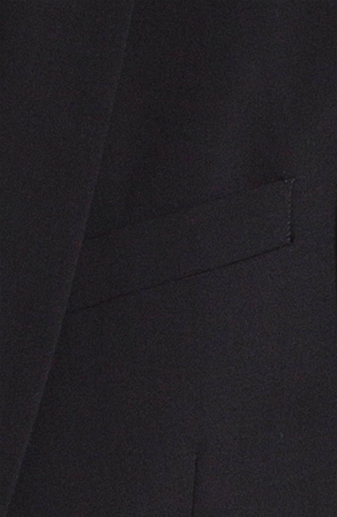 'Dwell 2' Black Wool Blazer,                             Alternate thumbnail 5, color,                             001