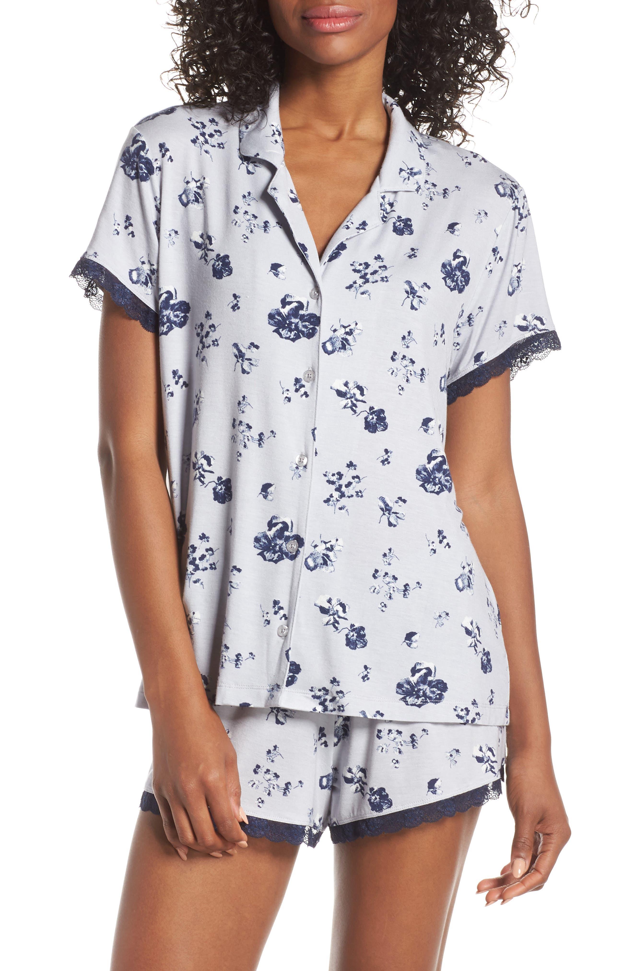Nordstrom Lingerie Moonlight Short Pajamas, Grey
