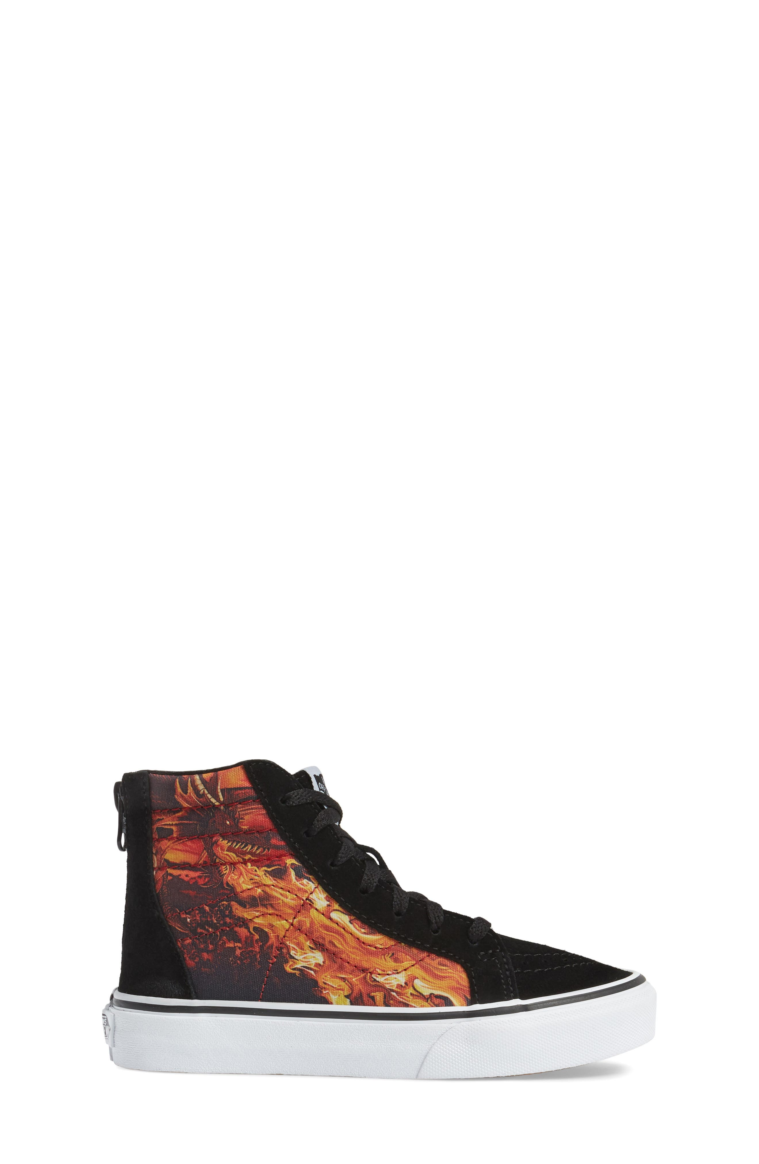 SK8-Hi Dragon Zip Sneaker,                             Alternate thumbnail 3, color,