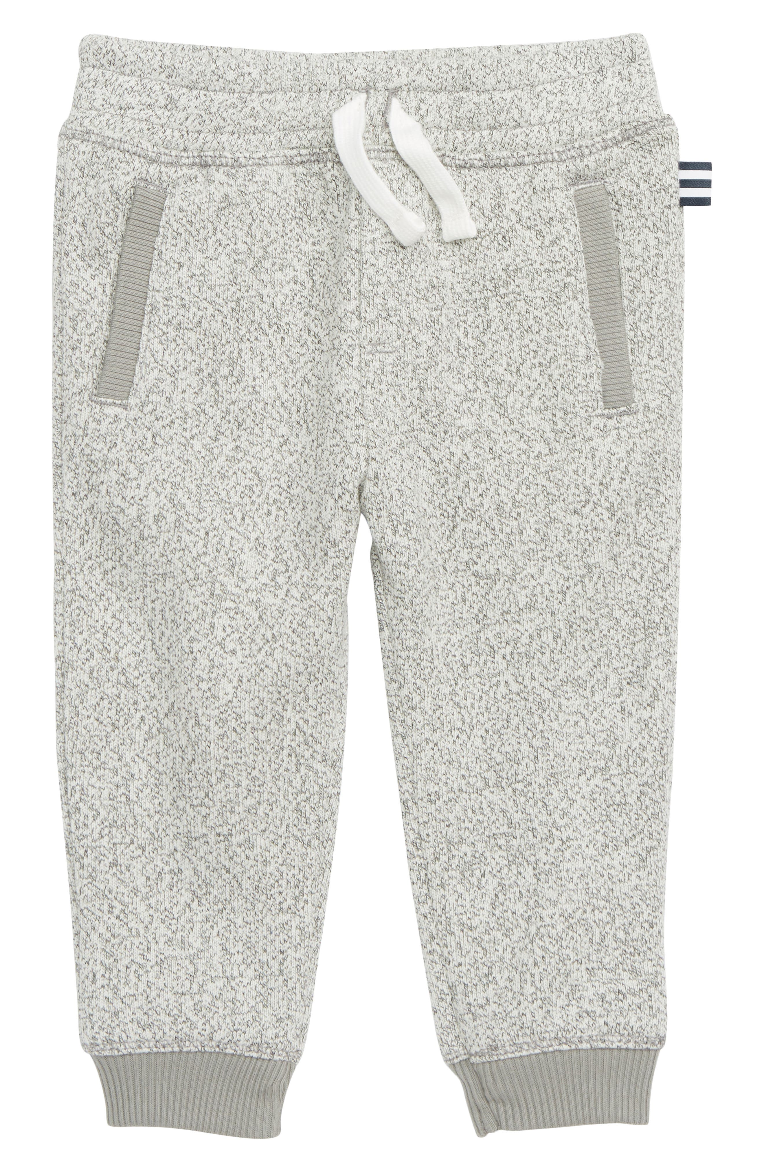 Marled Fleece Jogger Pants, Main, color, FLINT GRAY