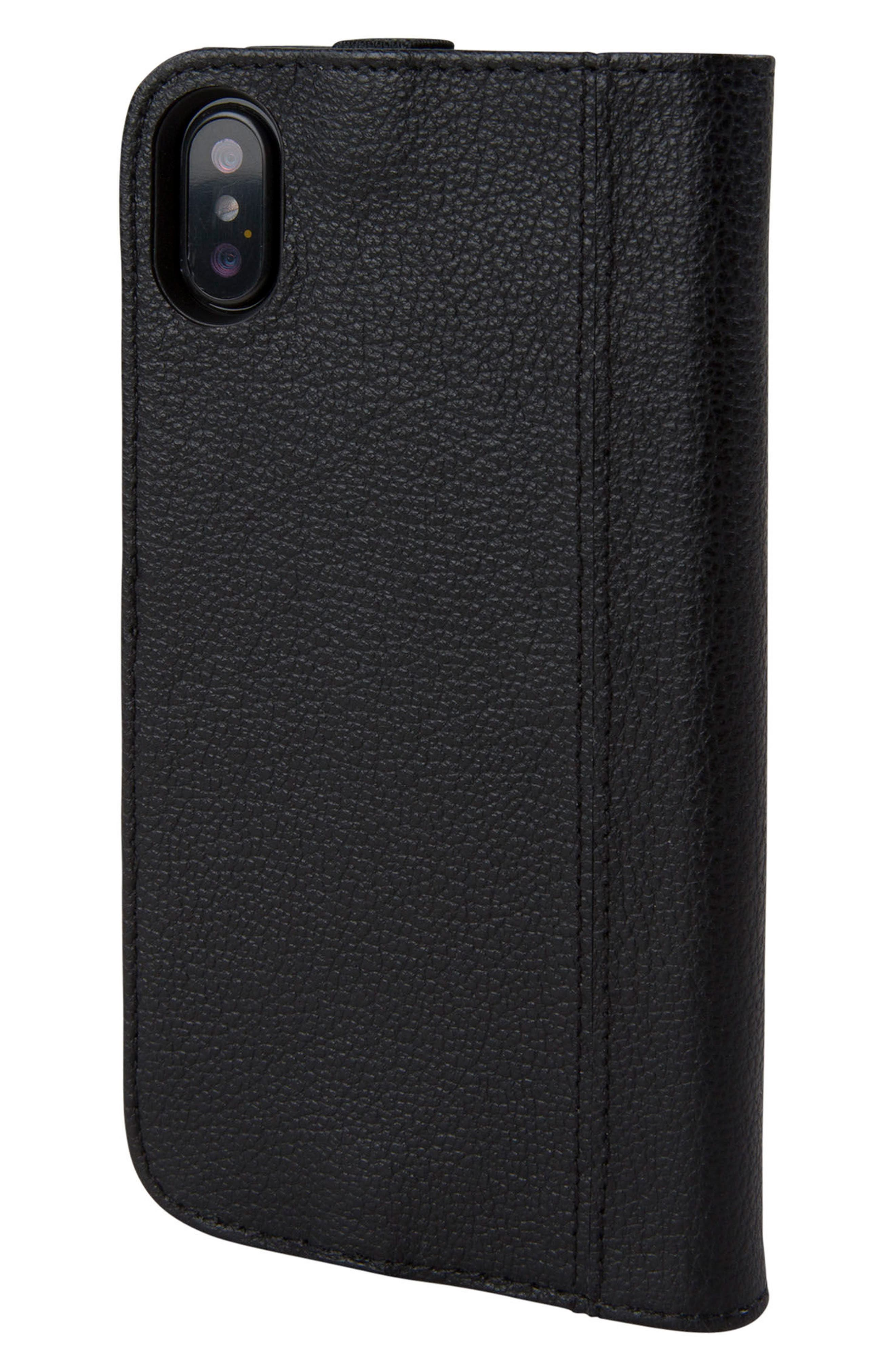 Icon iPhone X Wallet Case,                             Alternate thumbnail 3, color,                             001
