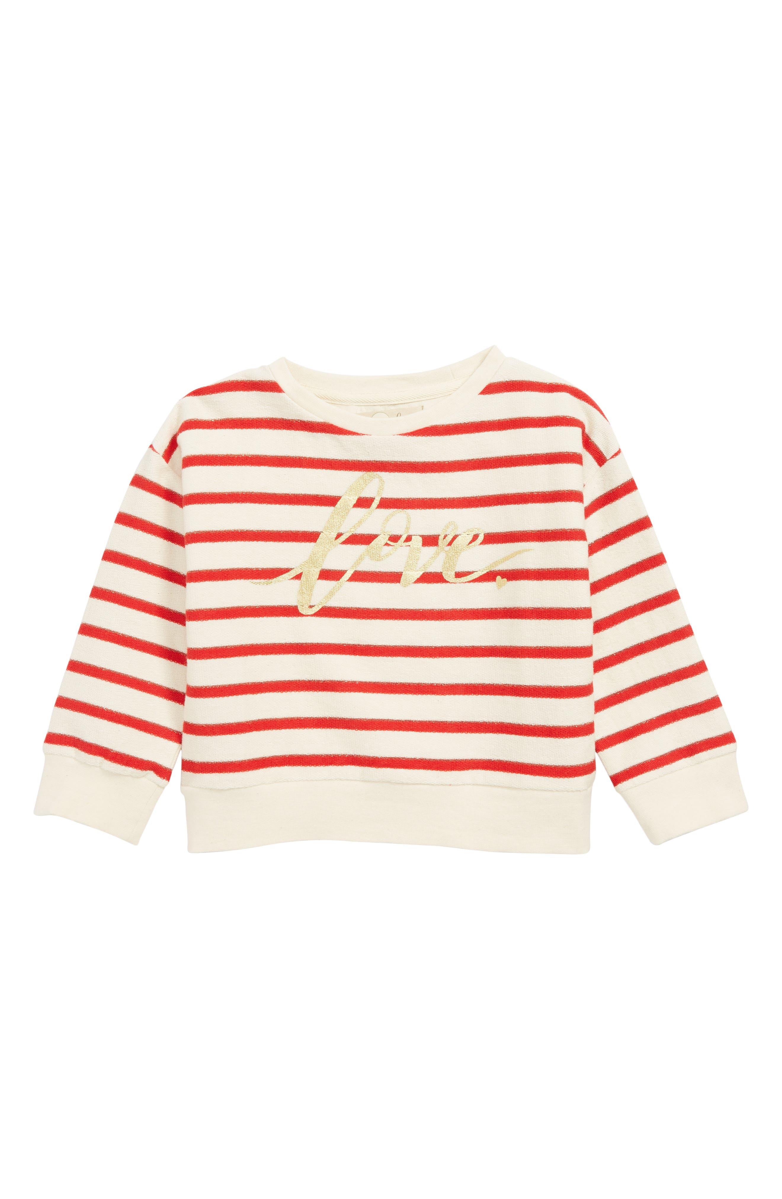 PEEK AREN'T YOU CURIOUS Love Sweatshirt, Main, color, RED